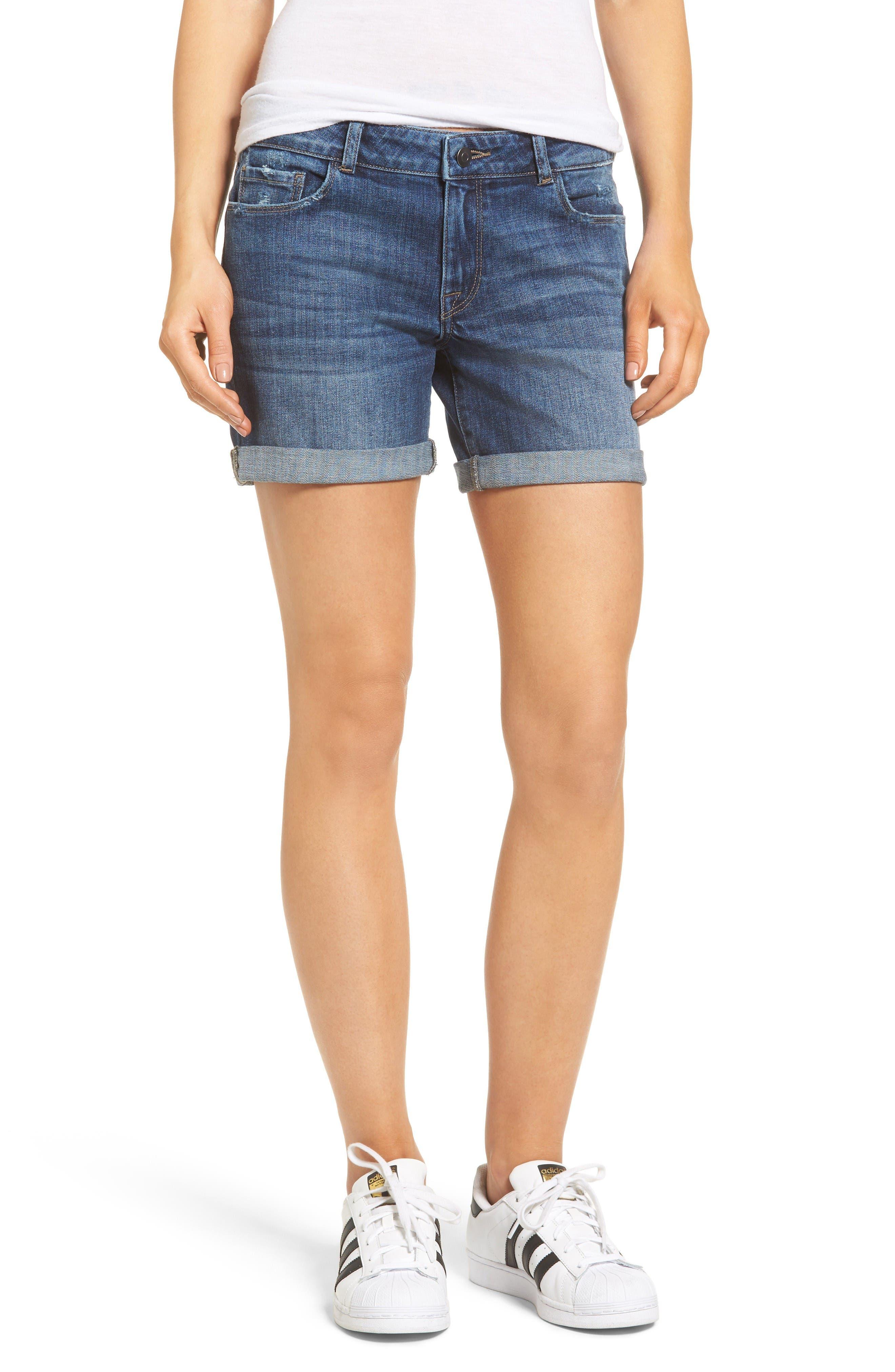 DL1961 Karlie Denim Boyfriend Shorts (Fever)
