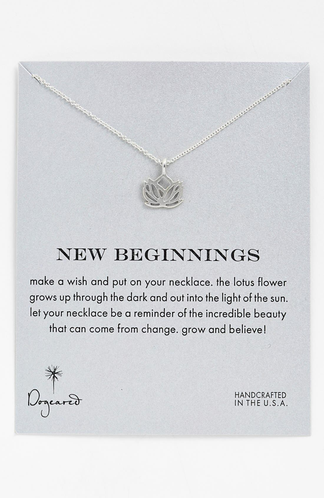 Alternate Image 1 Selected - Dogeared 'New Beginnings' Lotus Pendant Necklace