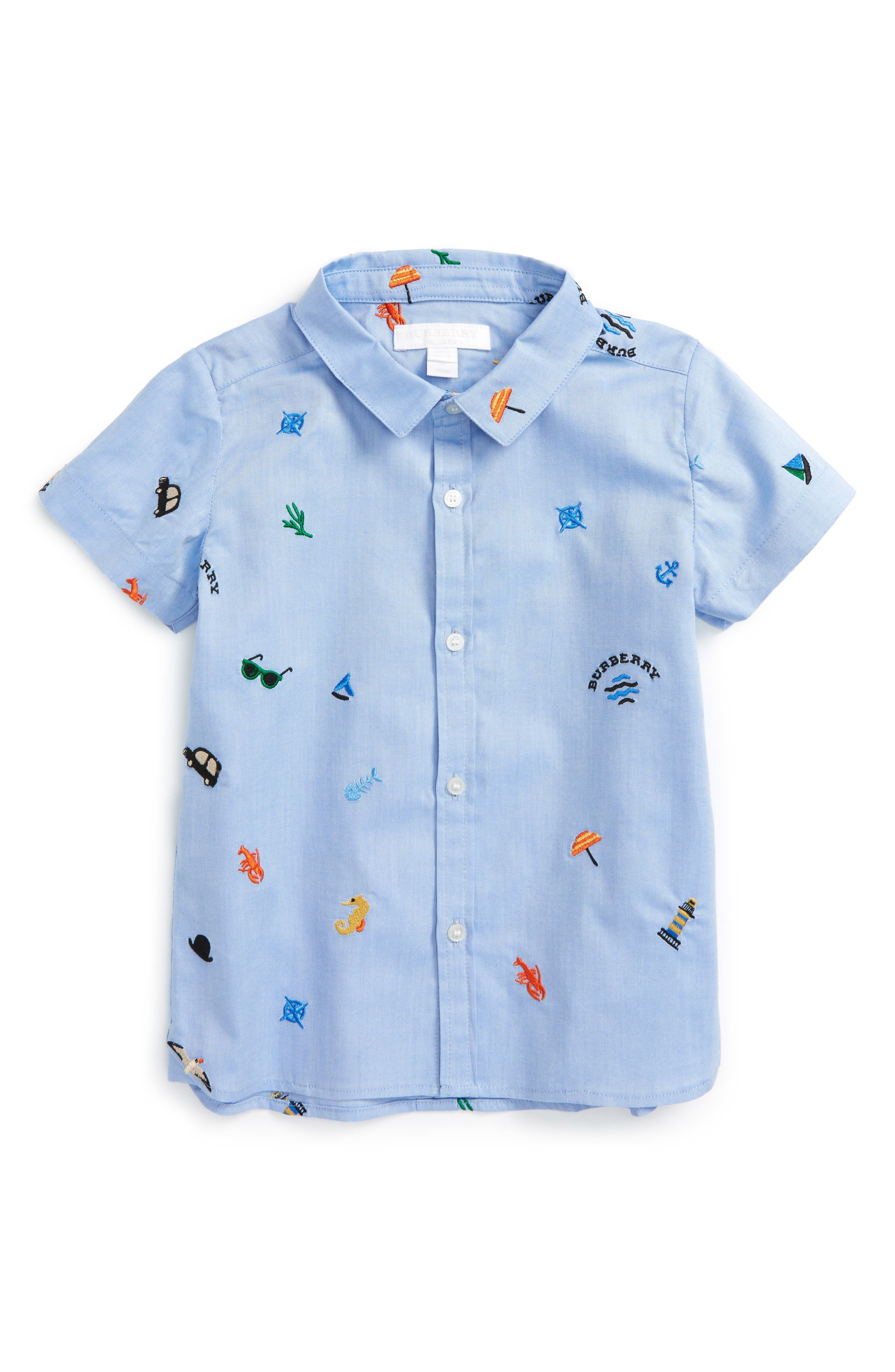 Burberry Clarkey Embroidered Woven Shirt (Baby Boys & Toddler Boys)