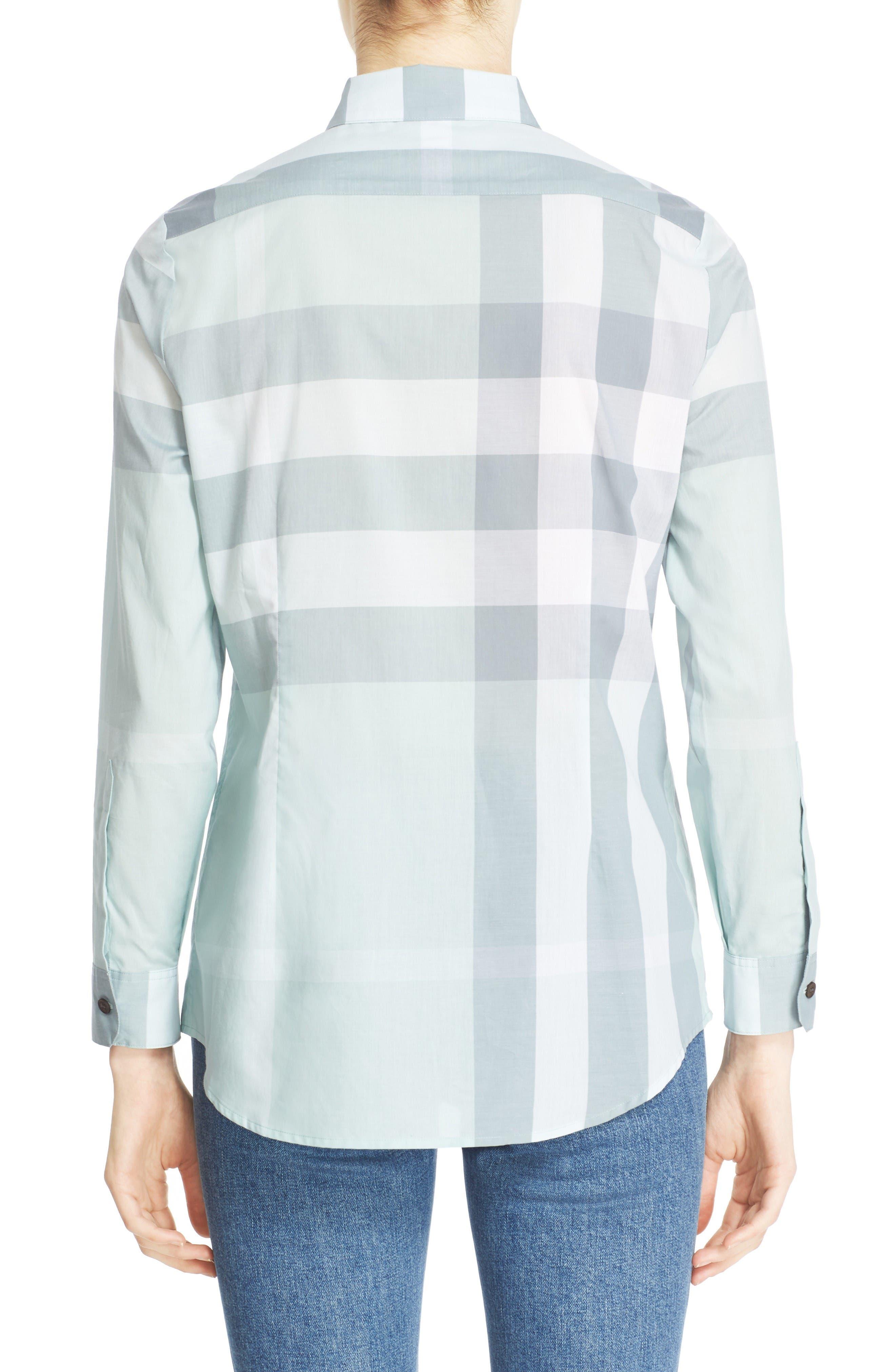 Alternate Image 2  - Burberry Check Print Cotton Shirt