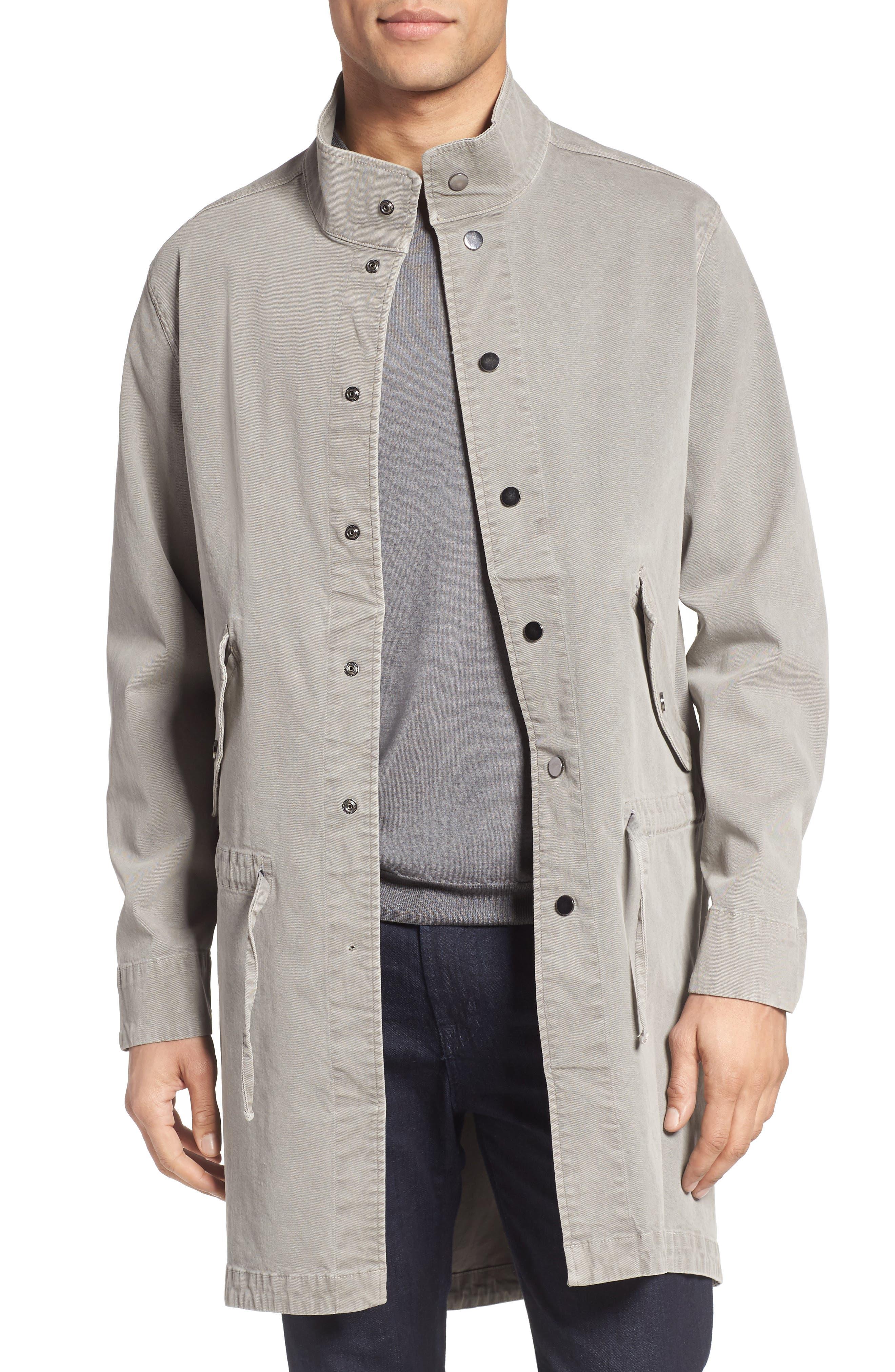 LAMARQUE Twill Snap Front Coat