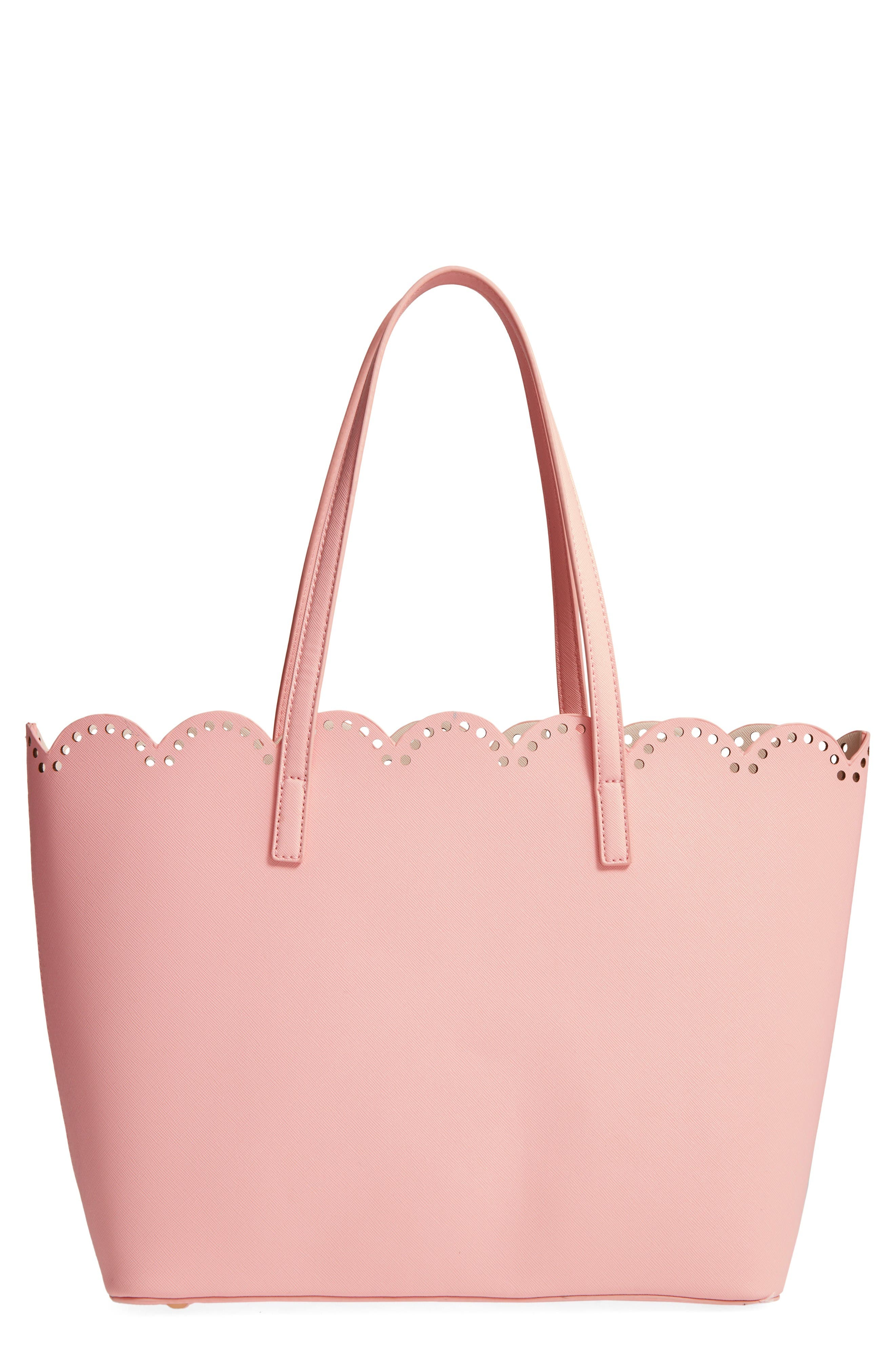 Main Image - BP. Scalloped Faux Leather Tote