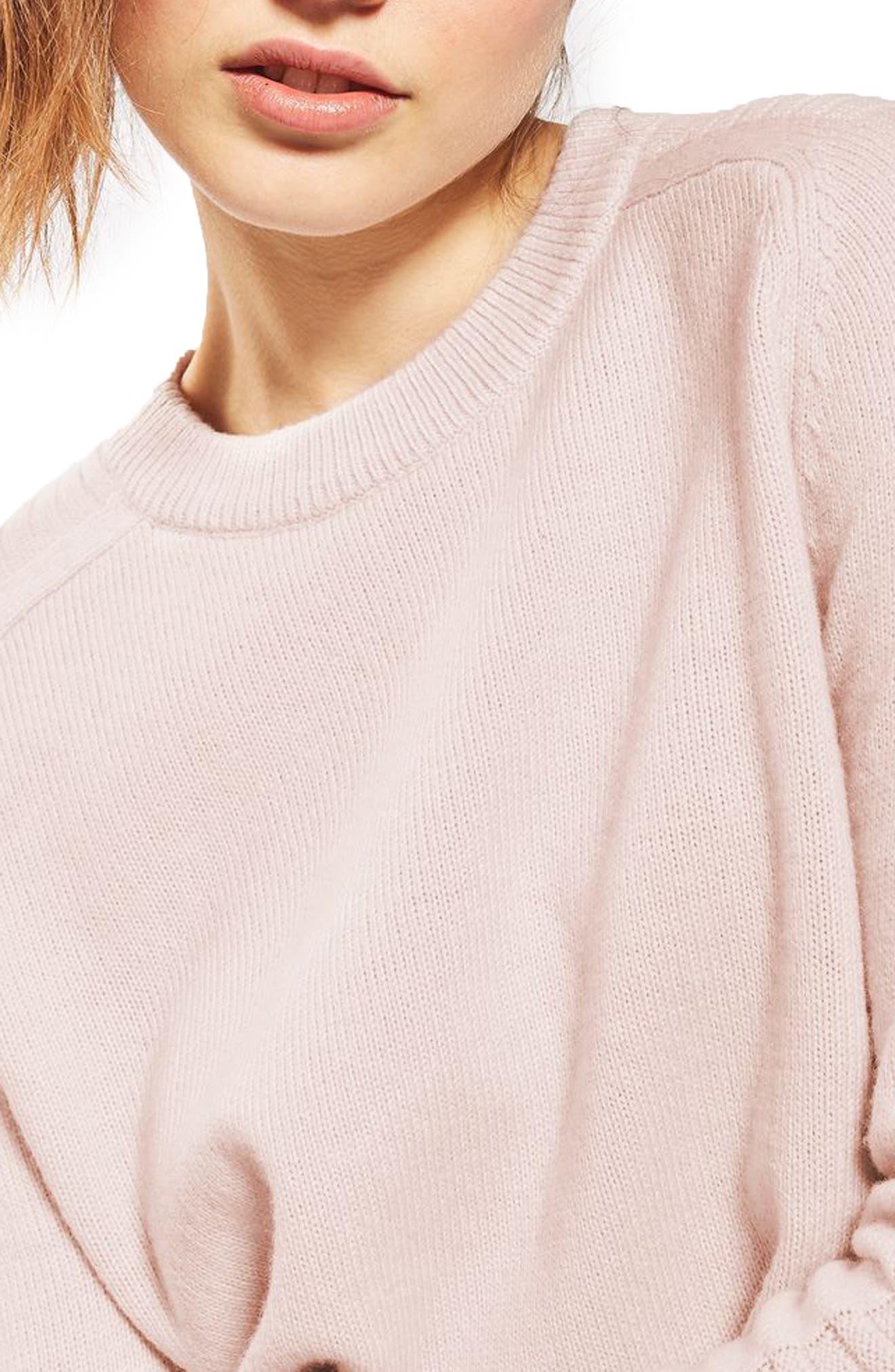 Alternate Image 5  - Topshop Links Panel Sweater