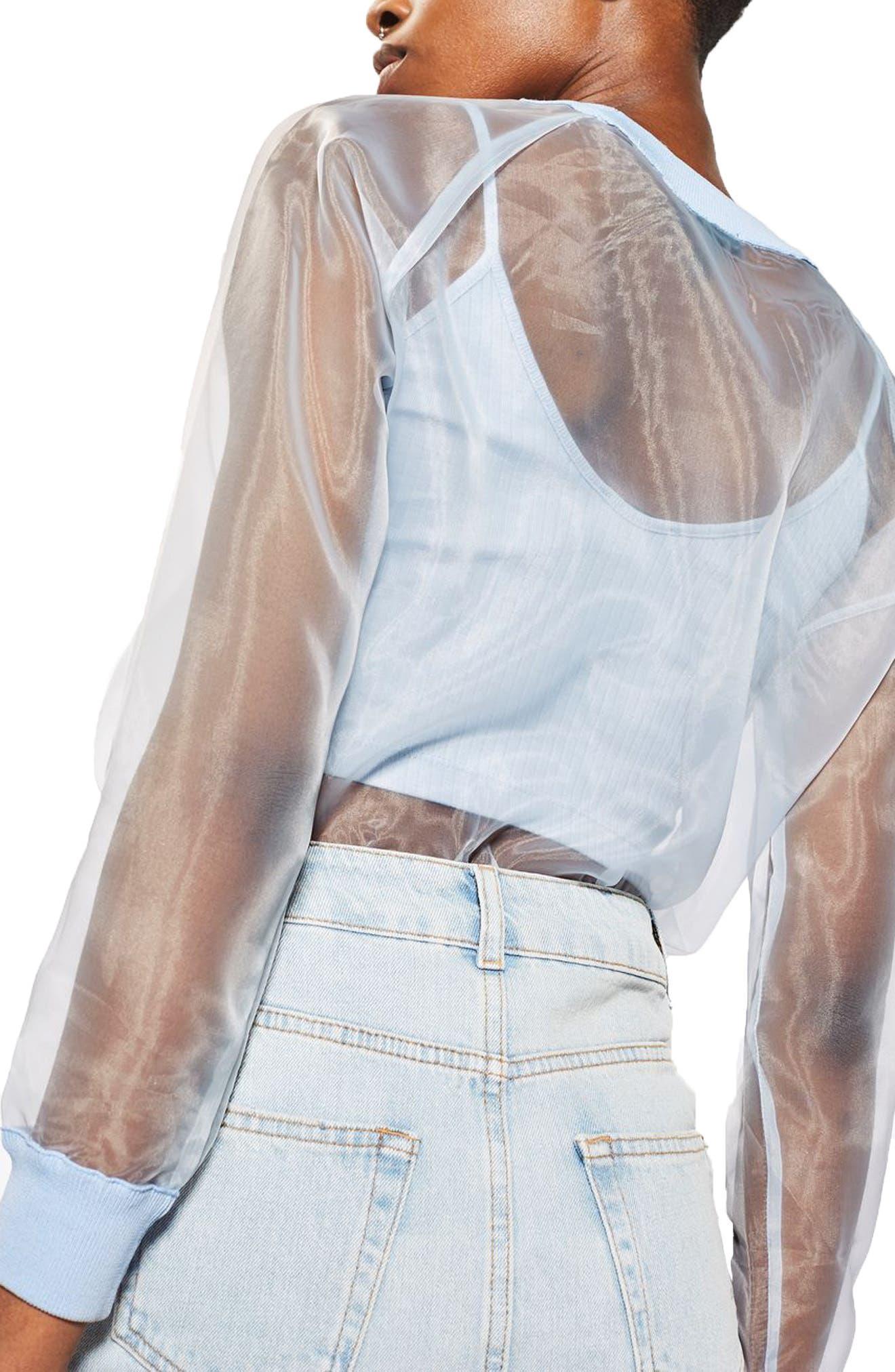Alternate Image 3  - Topshop Sheer Sweatshirt