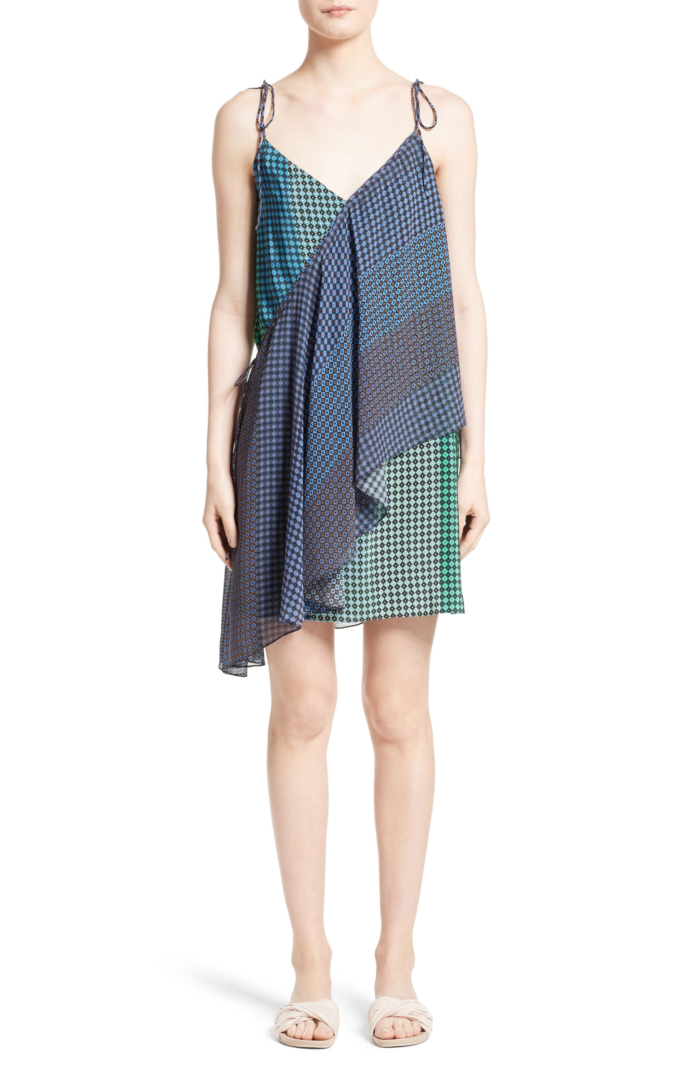 Opening Ceremony Silk Foulard Wrap Dress