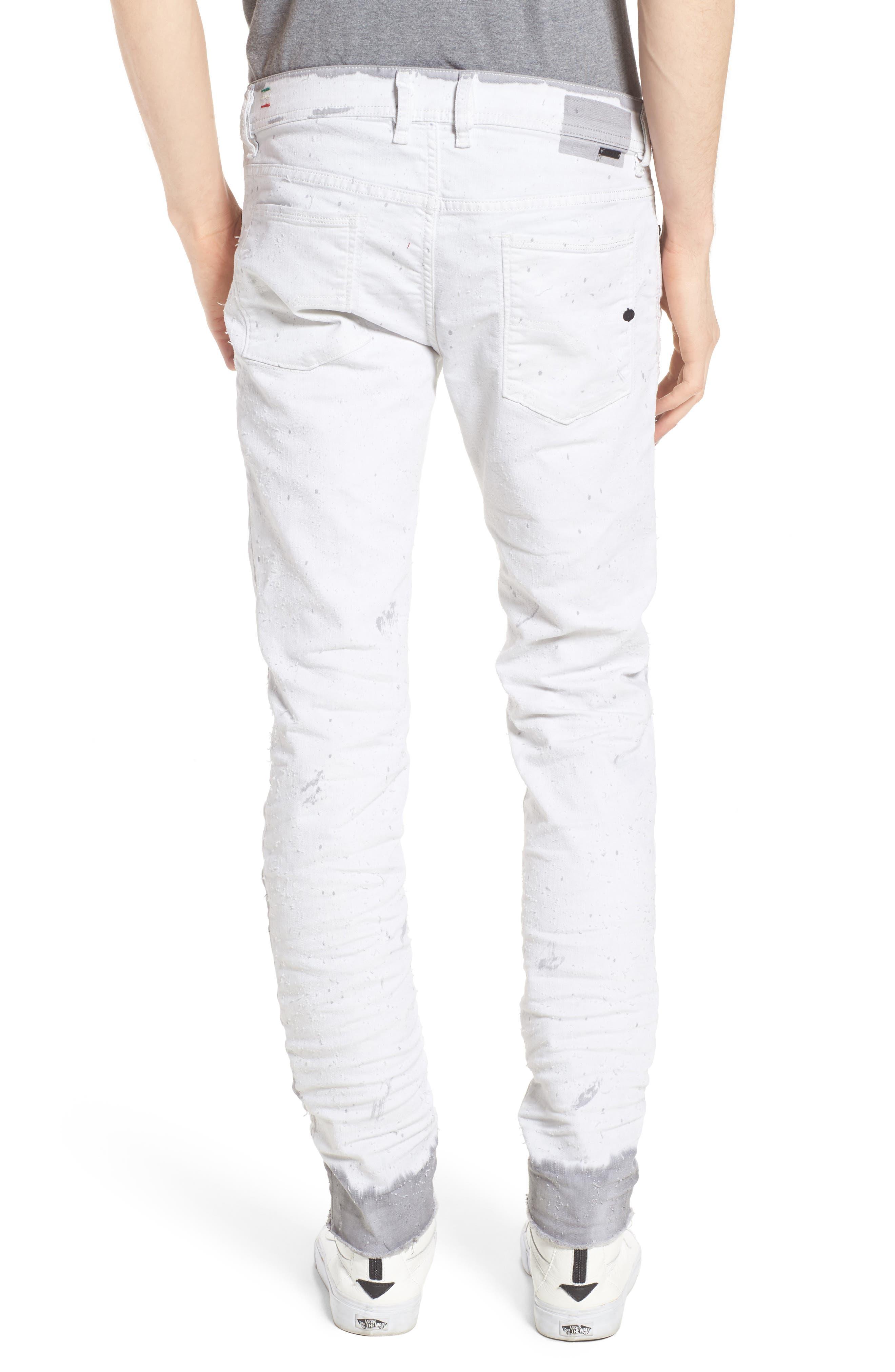 Alternate Image 2  - DIESEL® Sleenker Skinny Fit Cutoff Jeans (0860B)
