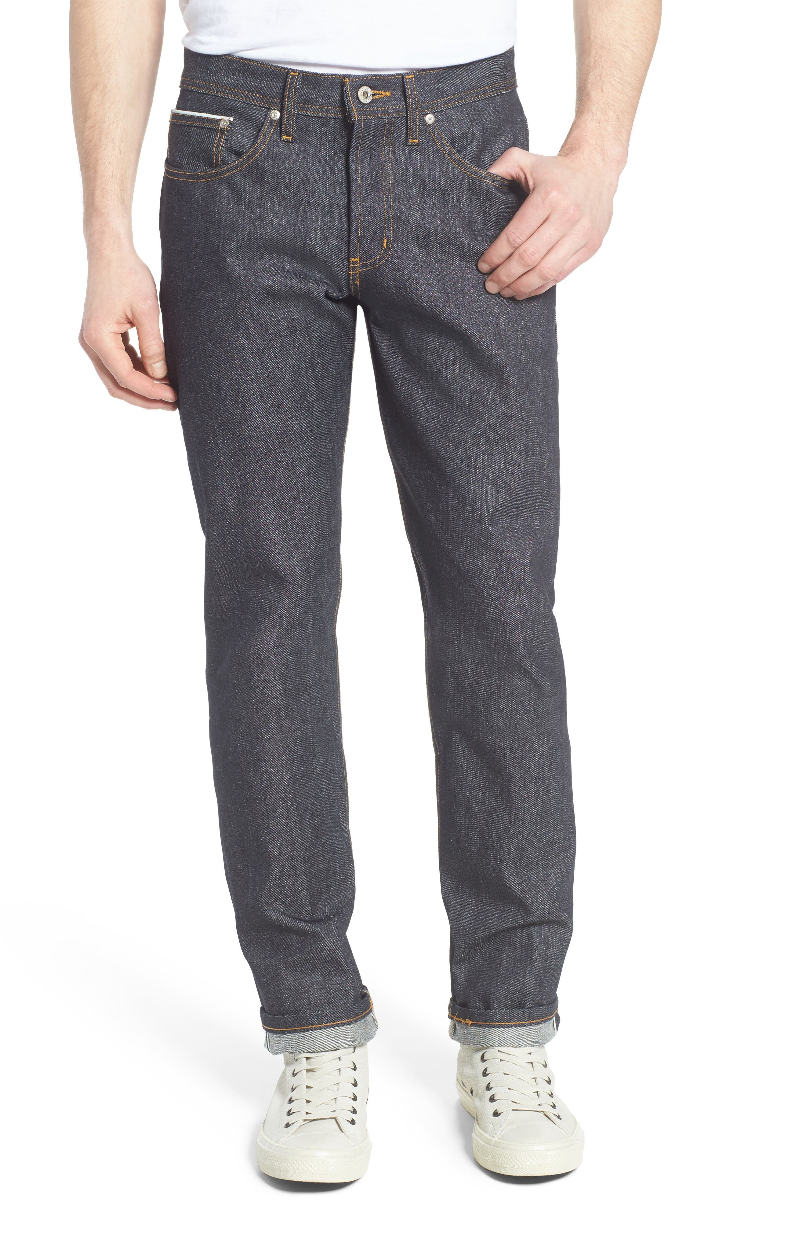 Naked & Famous Denim Weird Guy Slim Fit Selvedge Jeans (Left Hand Twill Selvedge)