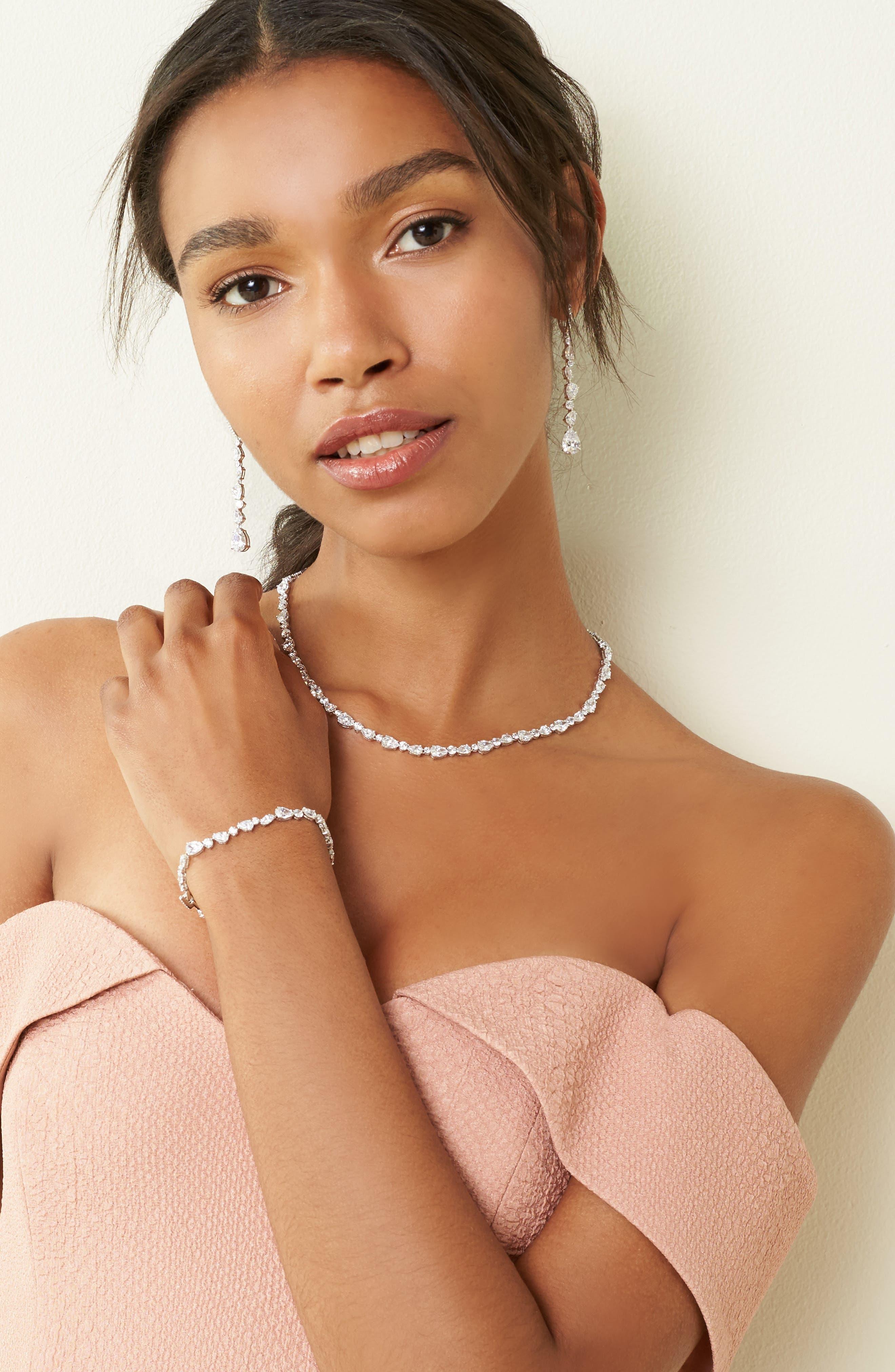 Alternate Image 2  - Nadri Ava Linear Drop Earrings