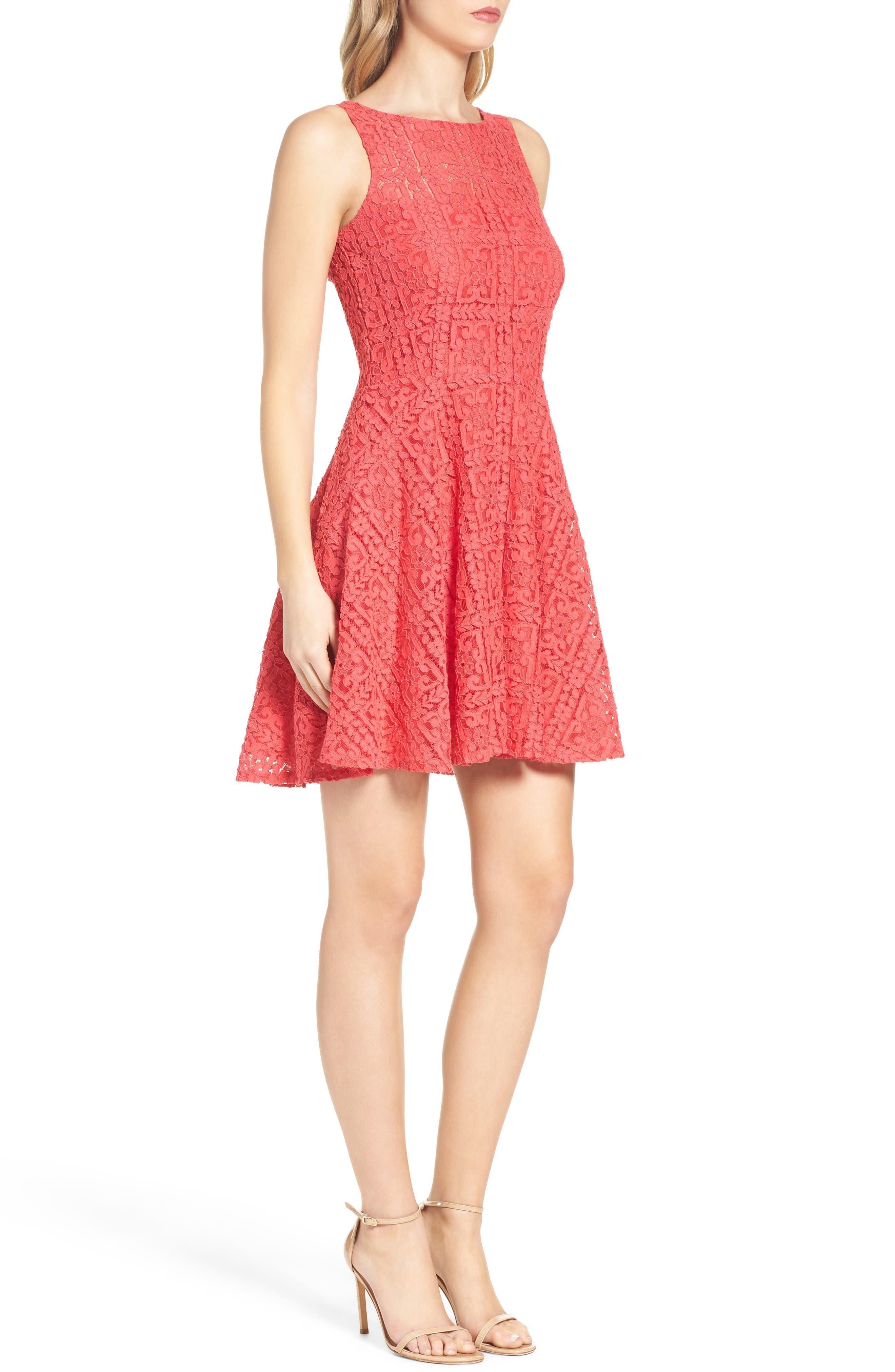 Alternate Image 3  - BB Dakota Paloma Lace Fit & Flare Dress