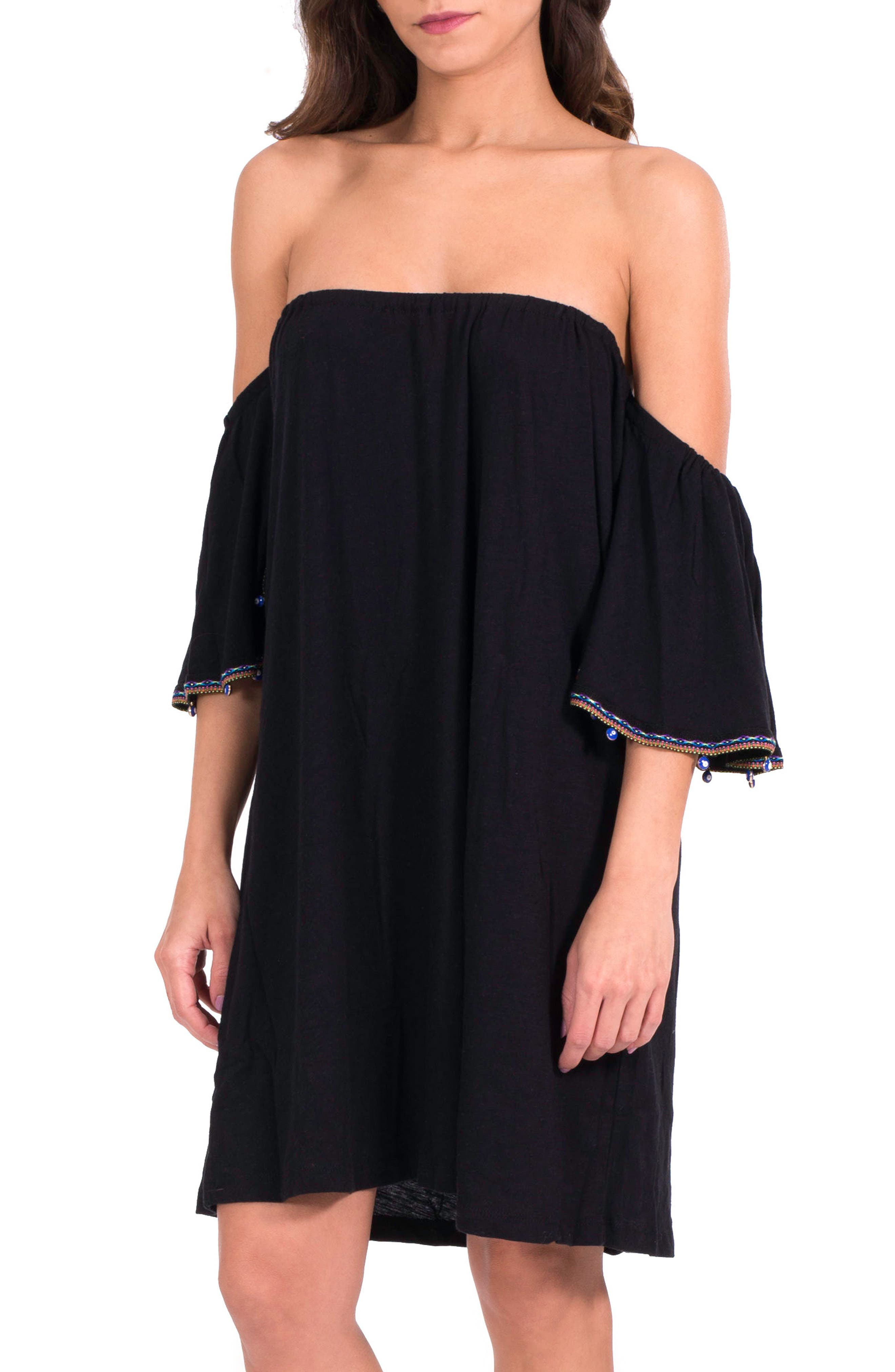 PITUSA Salsa Off the Shoulder Cover-Up Dress