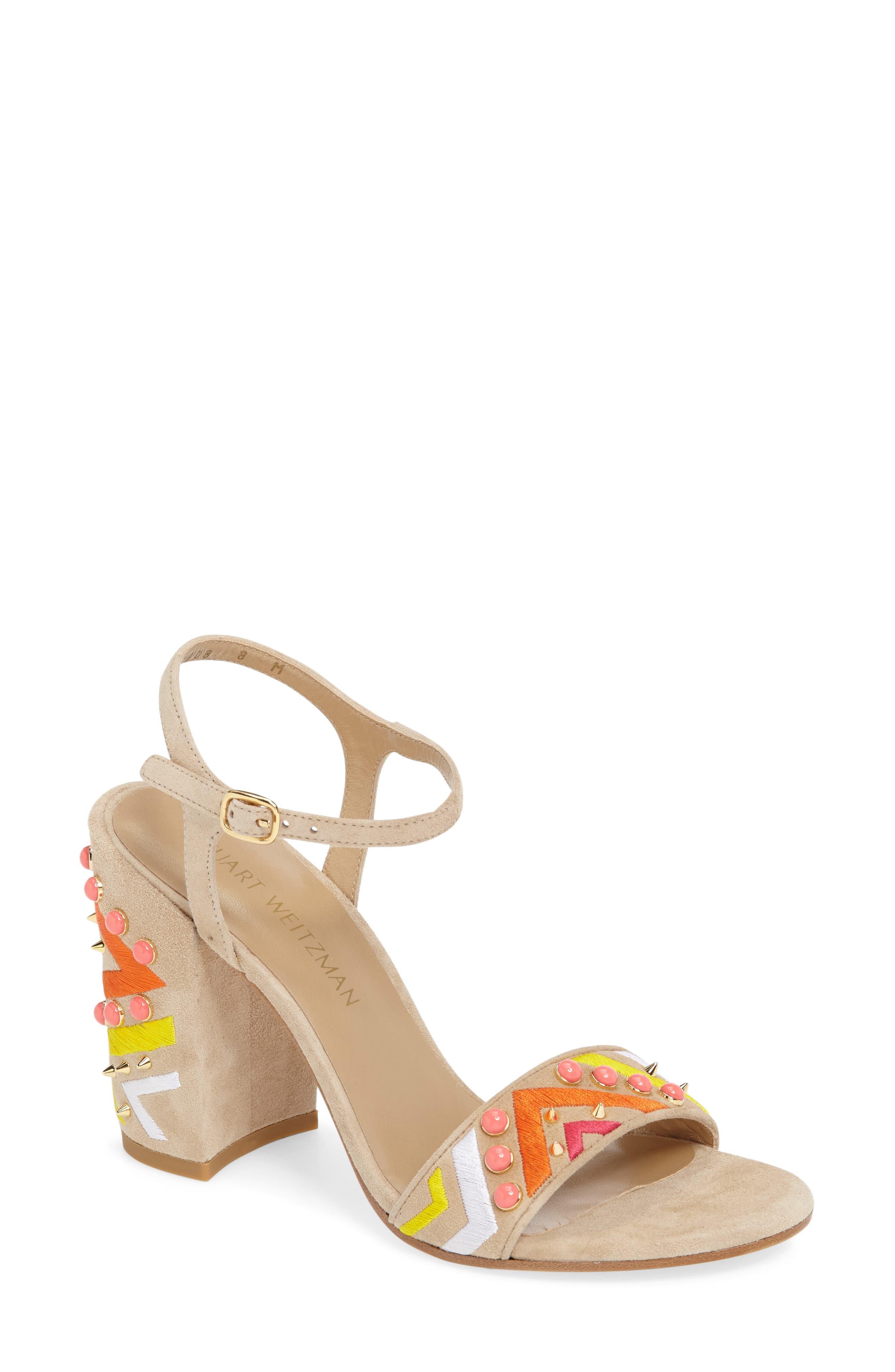 Alternate Image 1 Selected - Stuart Weitzman Both Embellished Sandal (Women)