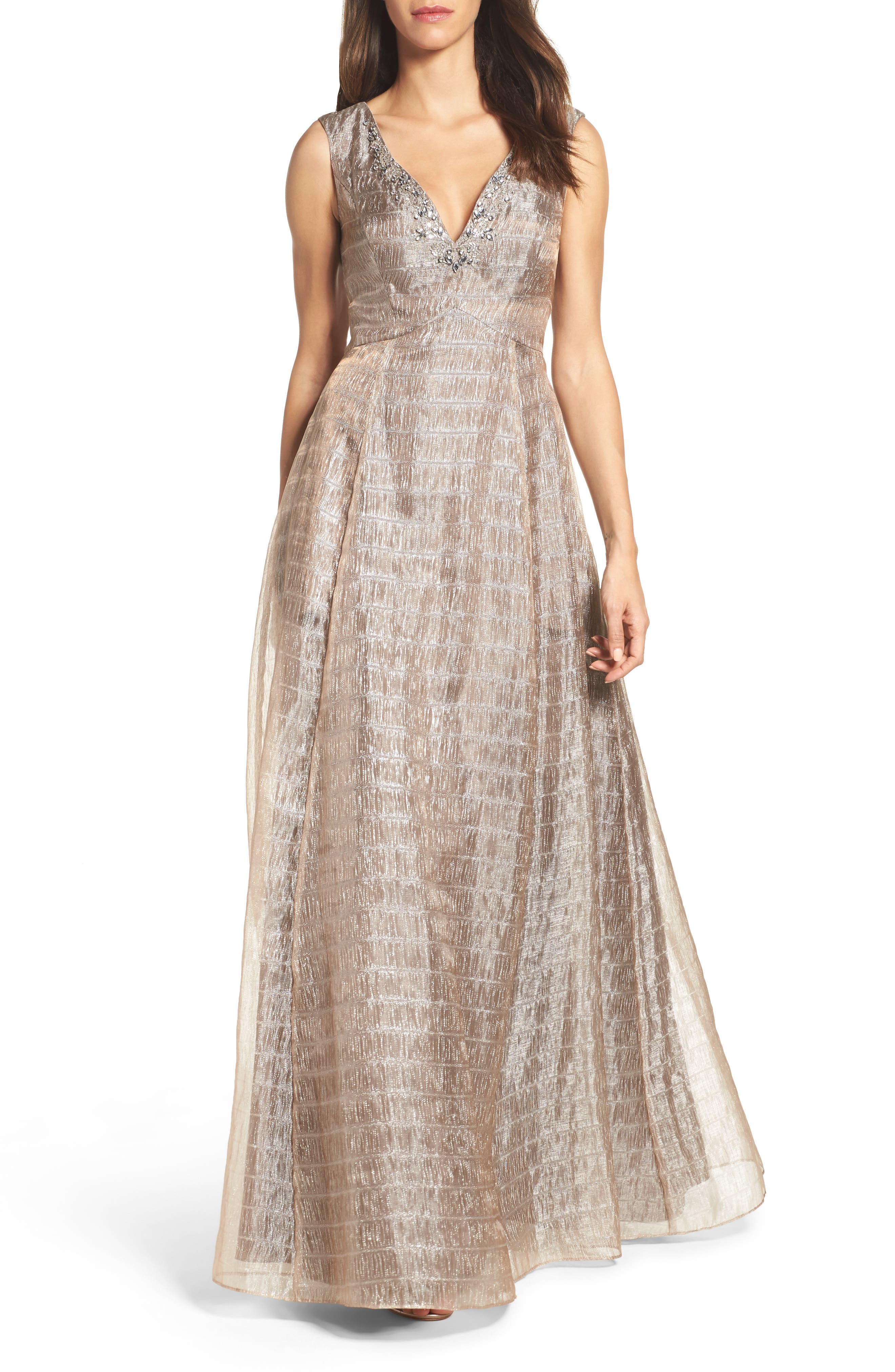 Aidan Mattox Embellished Gown