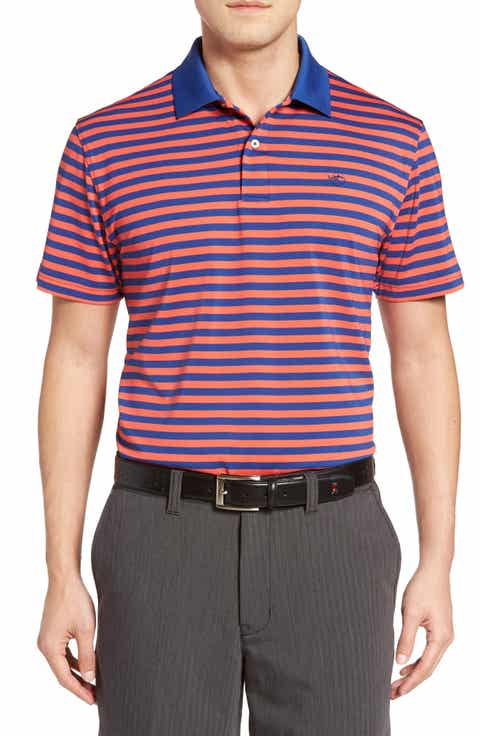 Southern Tide Fairway Stripe Performance Golf Polo