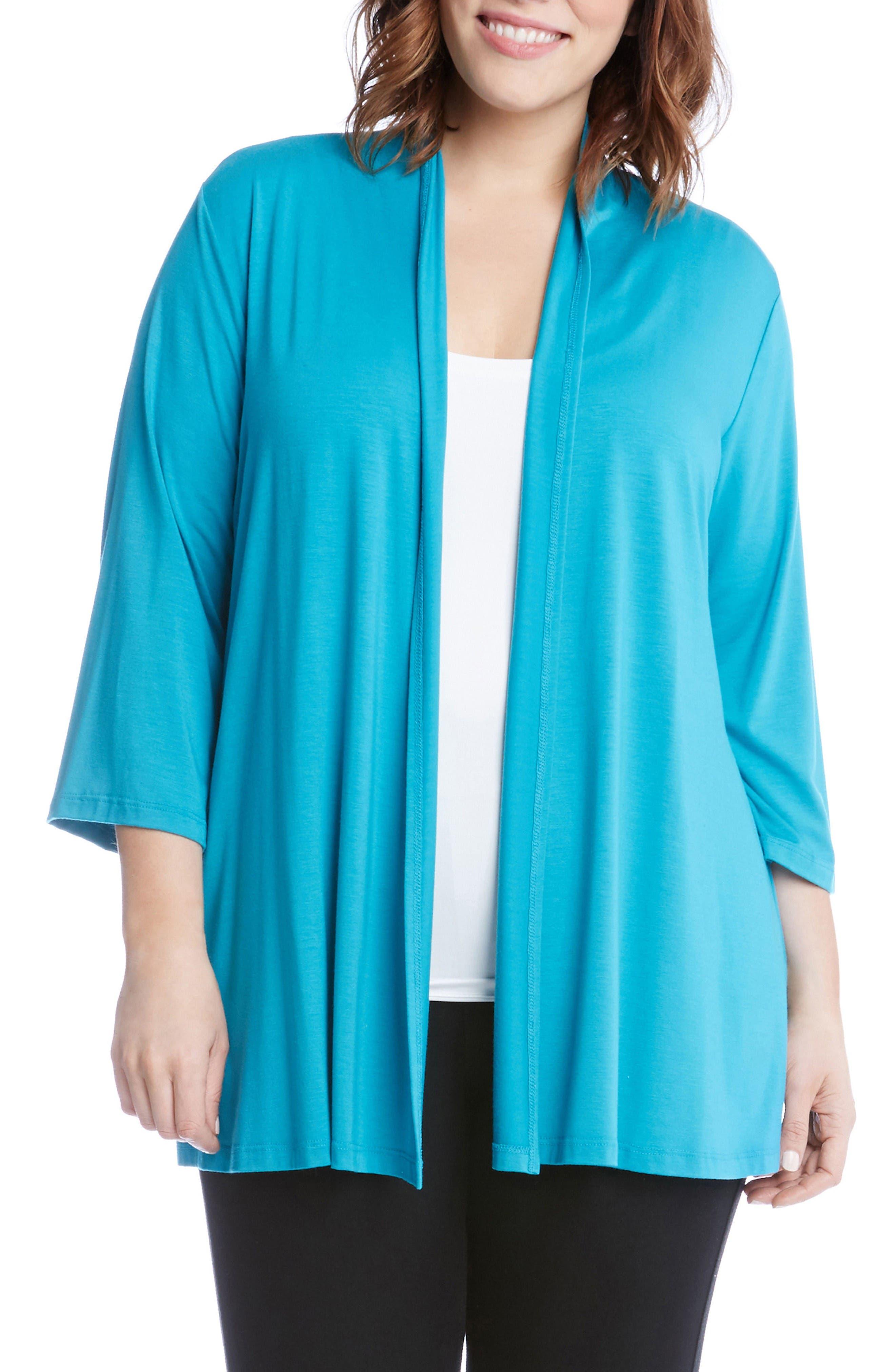 Karen Kane Molly Jersey Cardigan (Plus Size)
