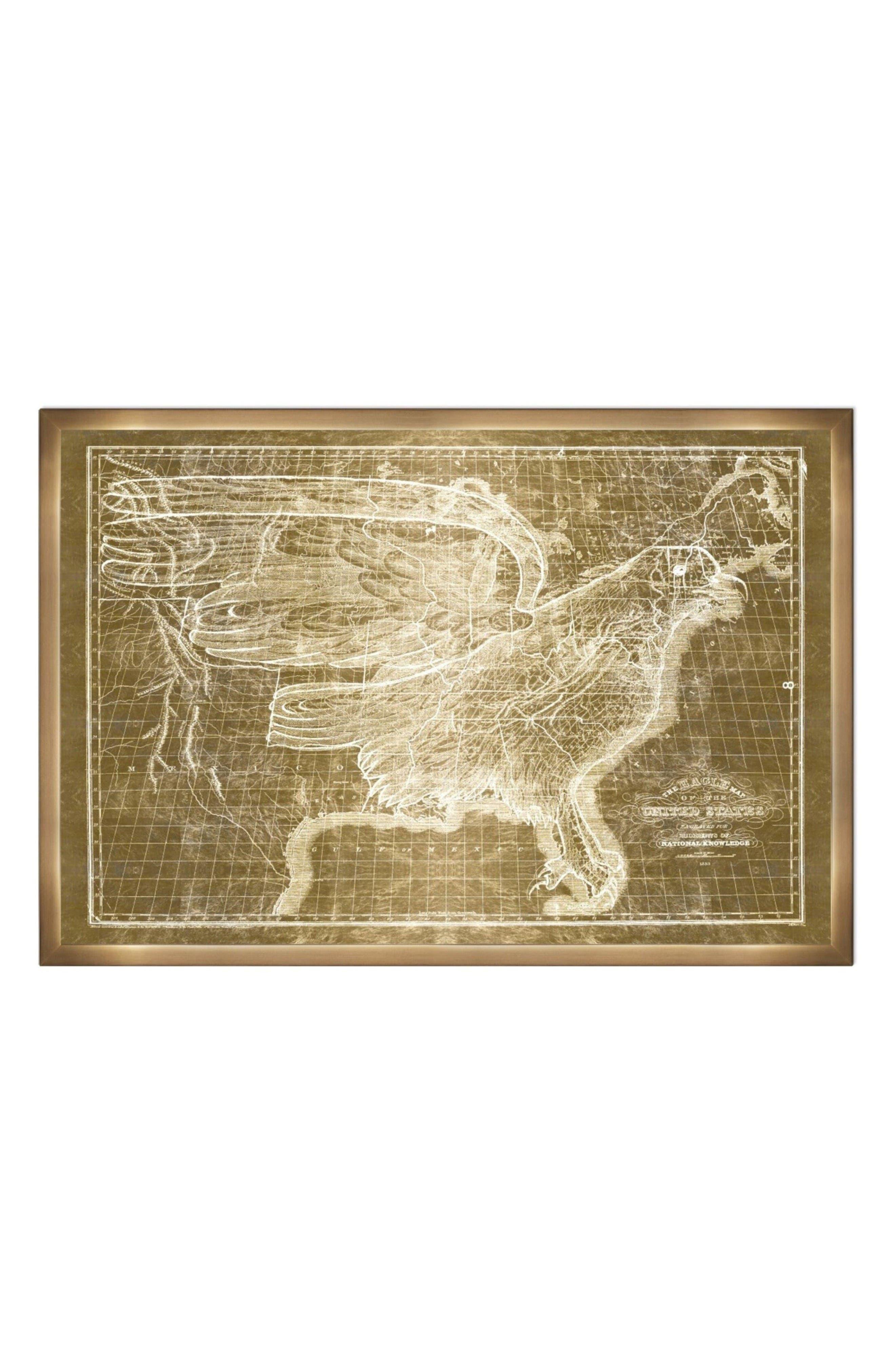 Oliver Gal United States Map 1833 Framed Art Print