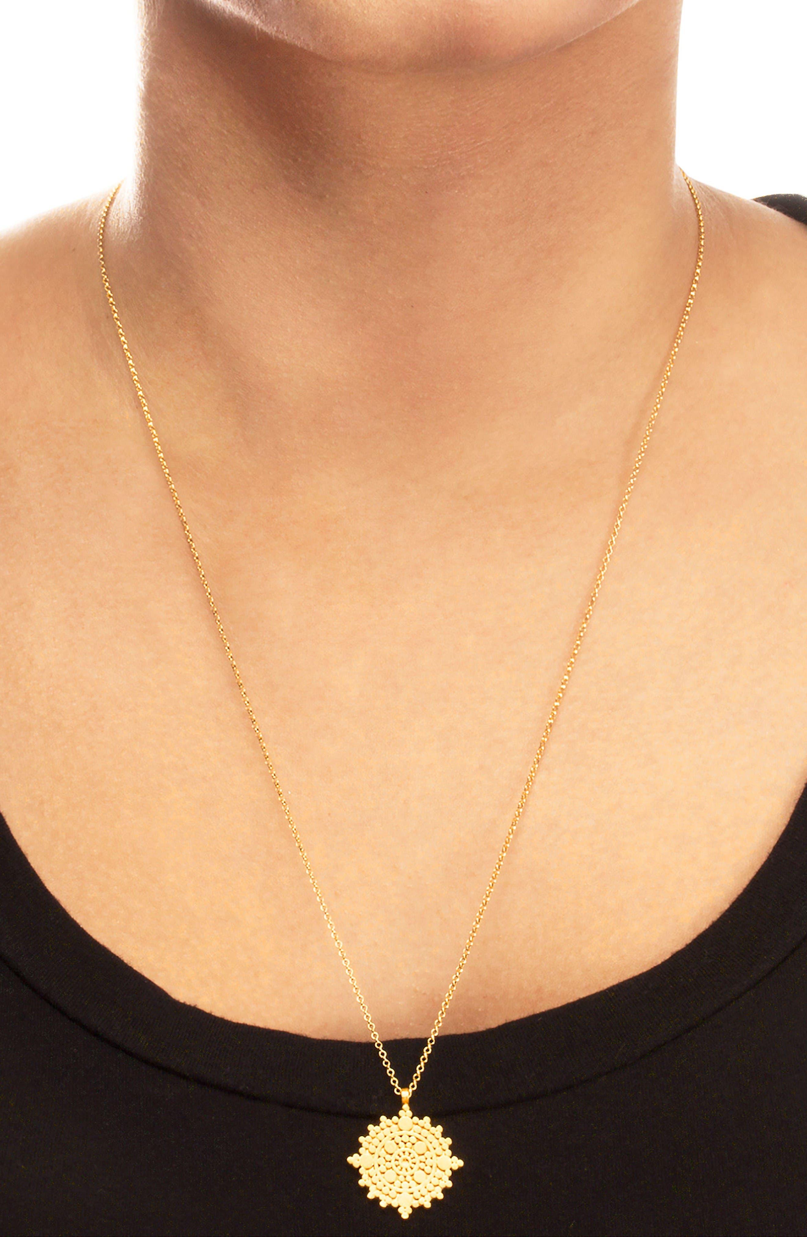 Alternate Image 3  - Dogeared The Balance Mandala Pendant Necklace