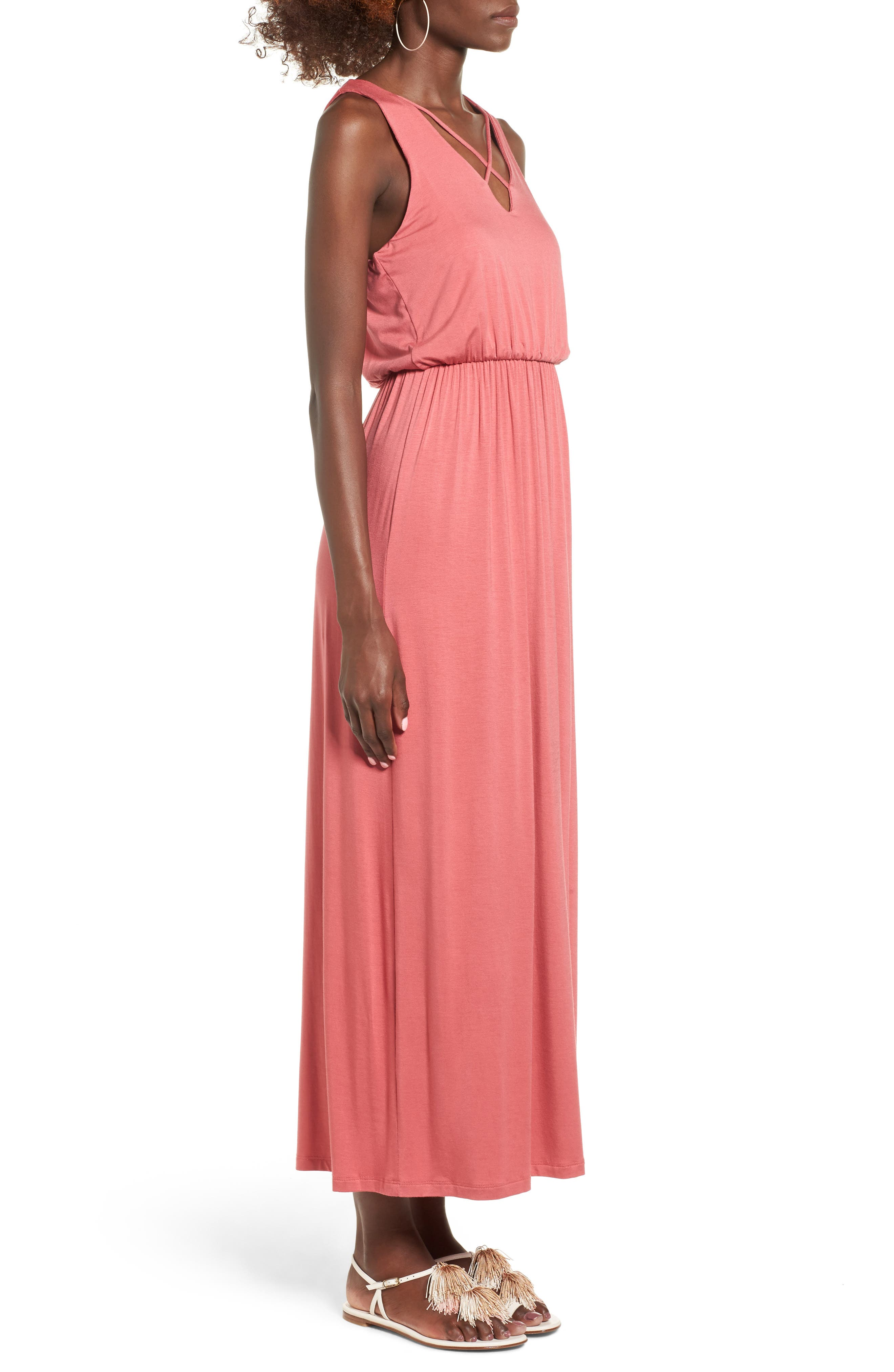 Alternate Image 3  - Lush Cross Front Maxi Dress