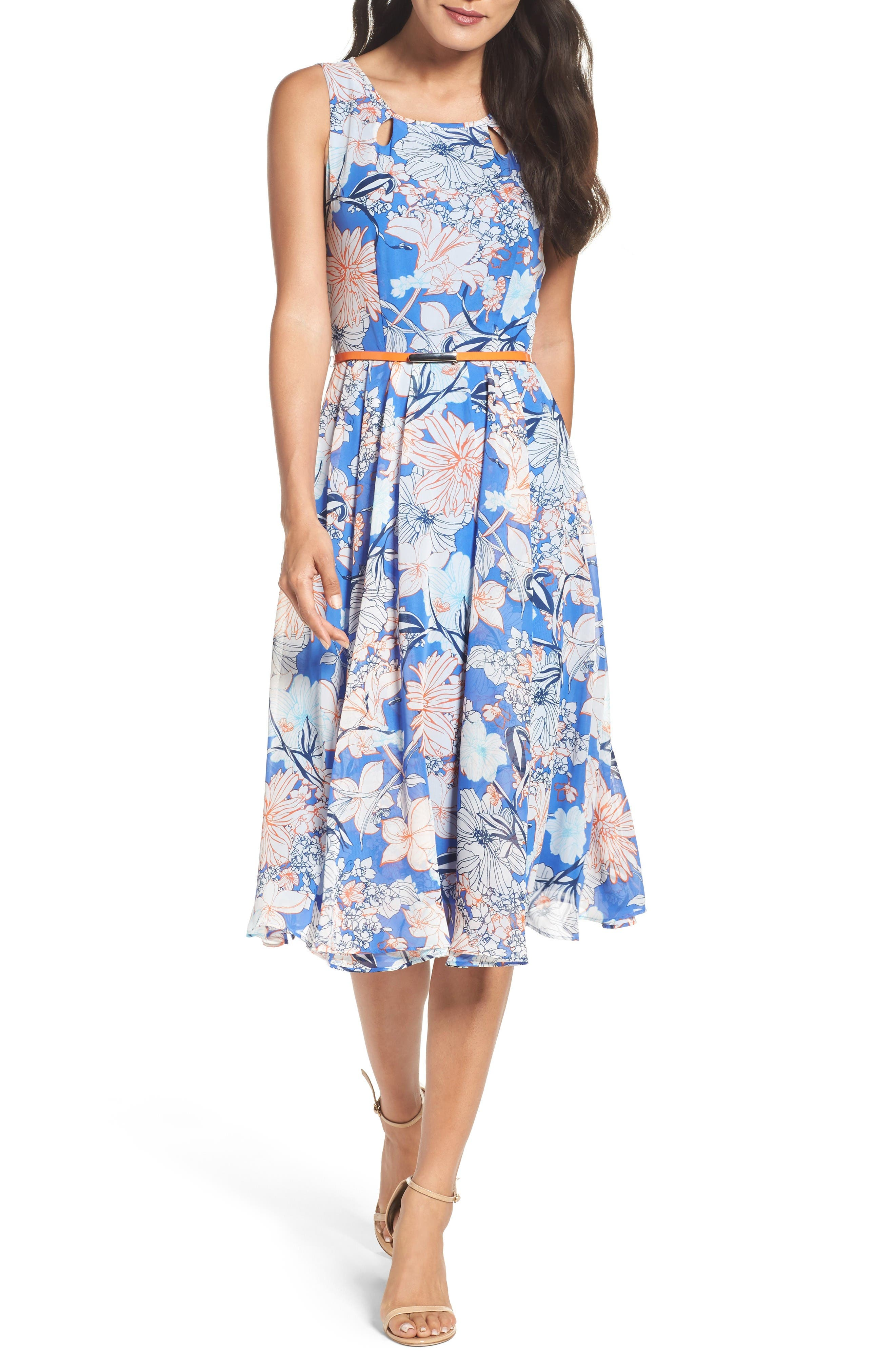 Gabby Skye Floral Midi Dress