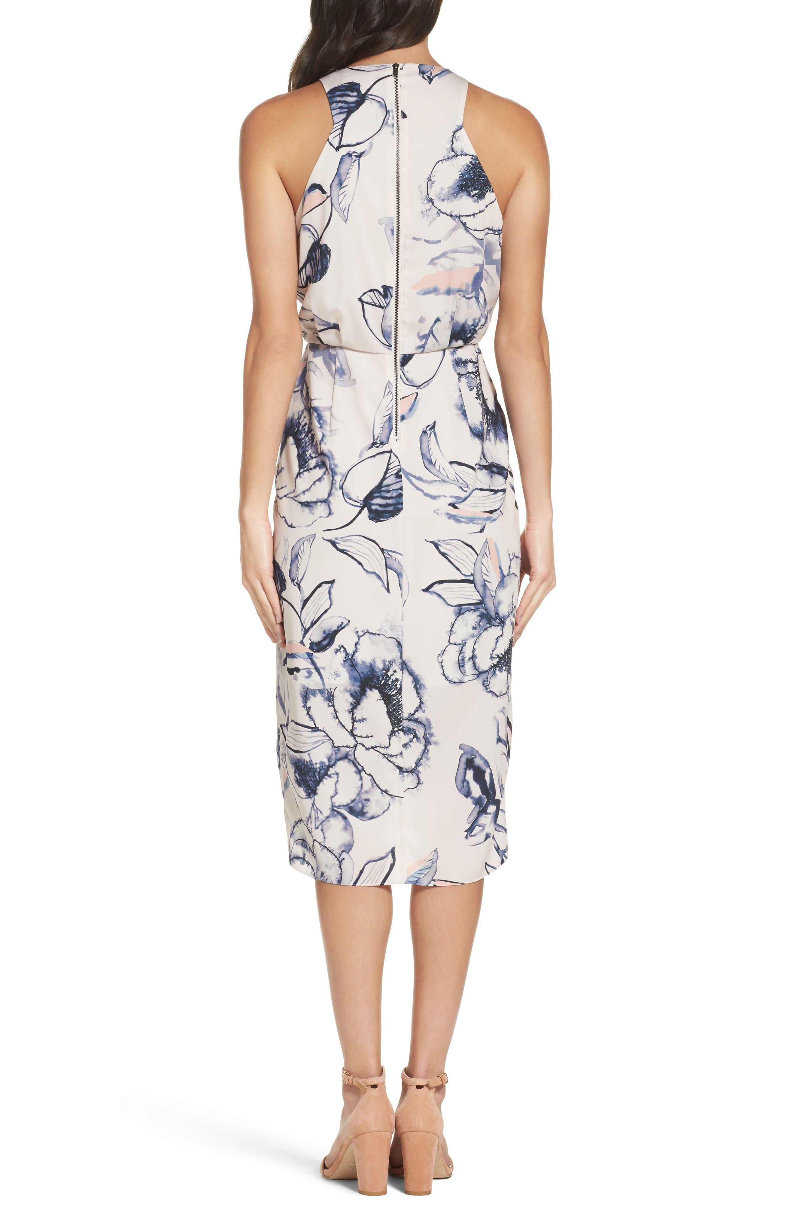 Alternate Image 2  - Chelsea28 Print Midi Dress