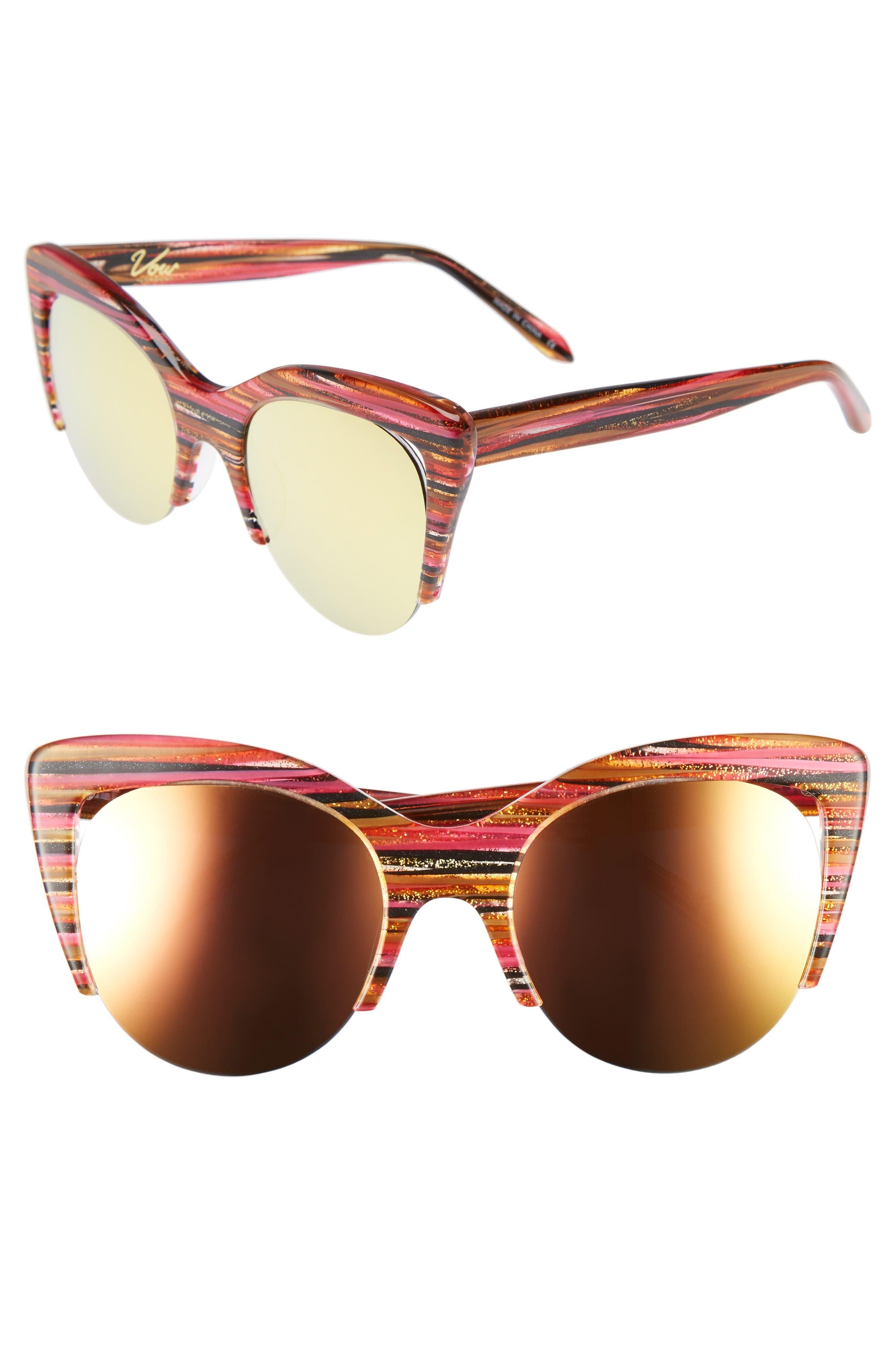 Vow London Mia 51mm Cat Eye Sunglasses