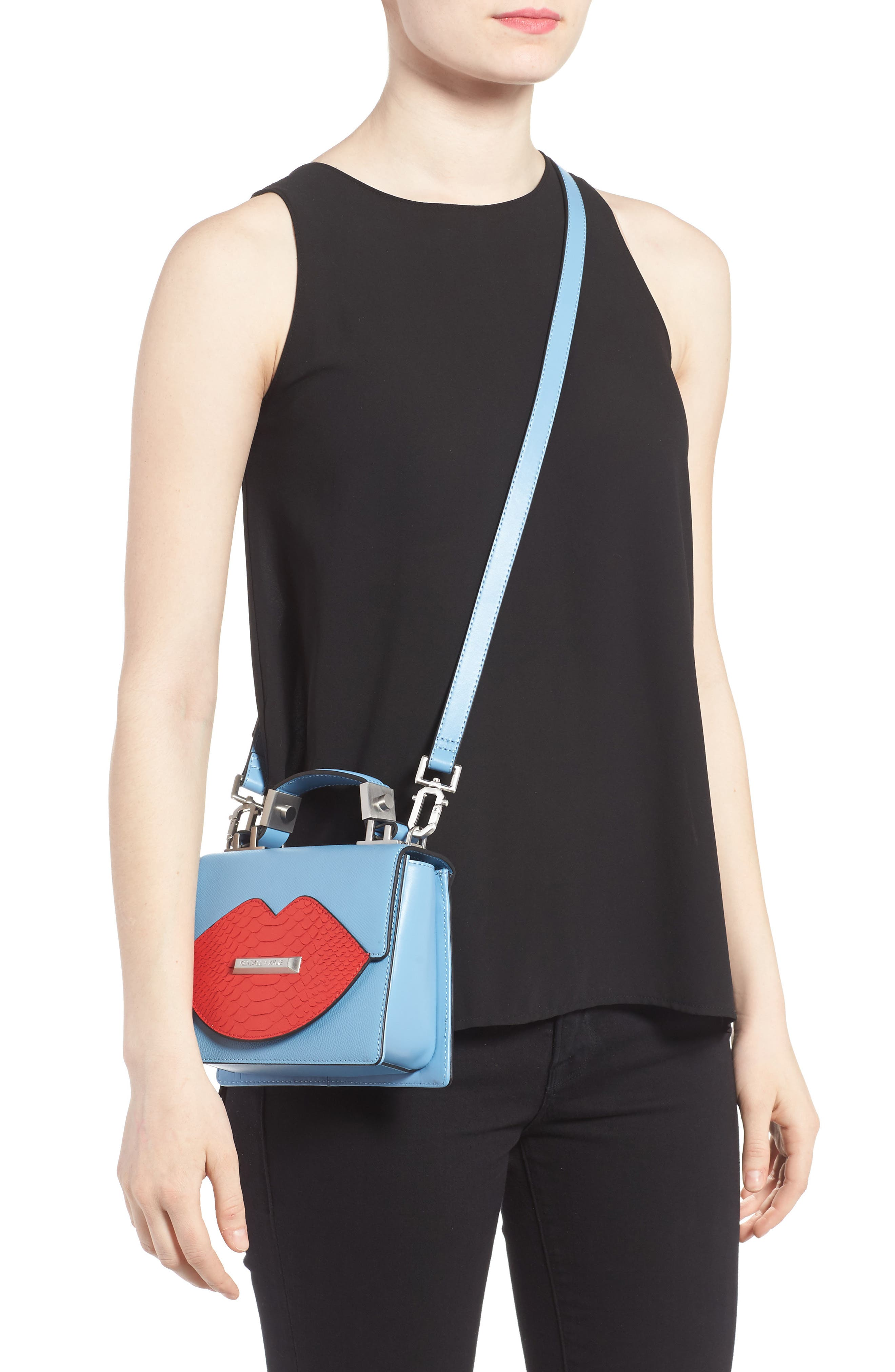 Alternate Image 2  - KENDALL + KYLIE Lips Leather Top Handle Satchel