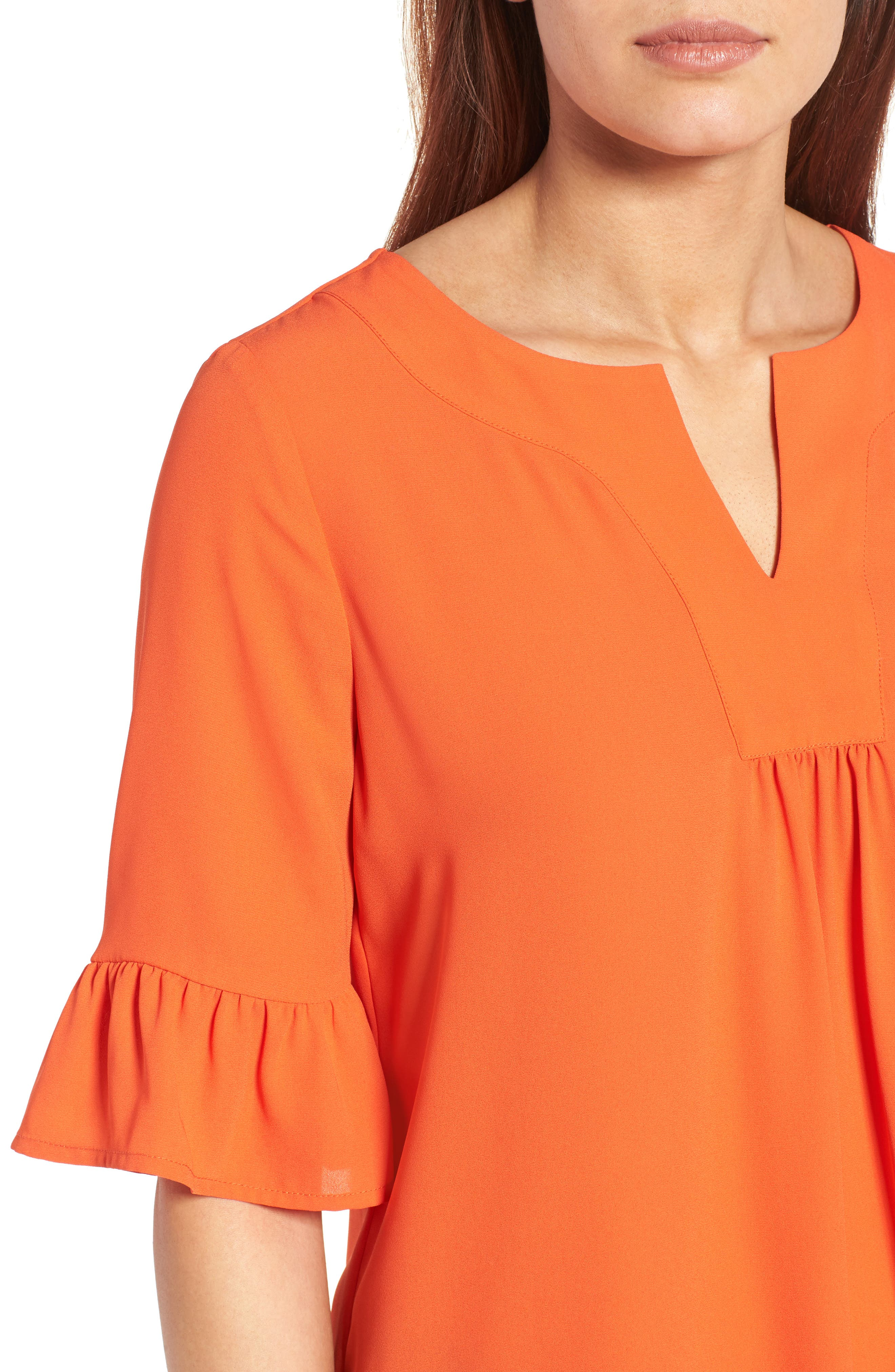 Alternate Image 4  - Pleione Ruffle Sleeve Blouse (Regular & Petite)