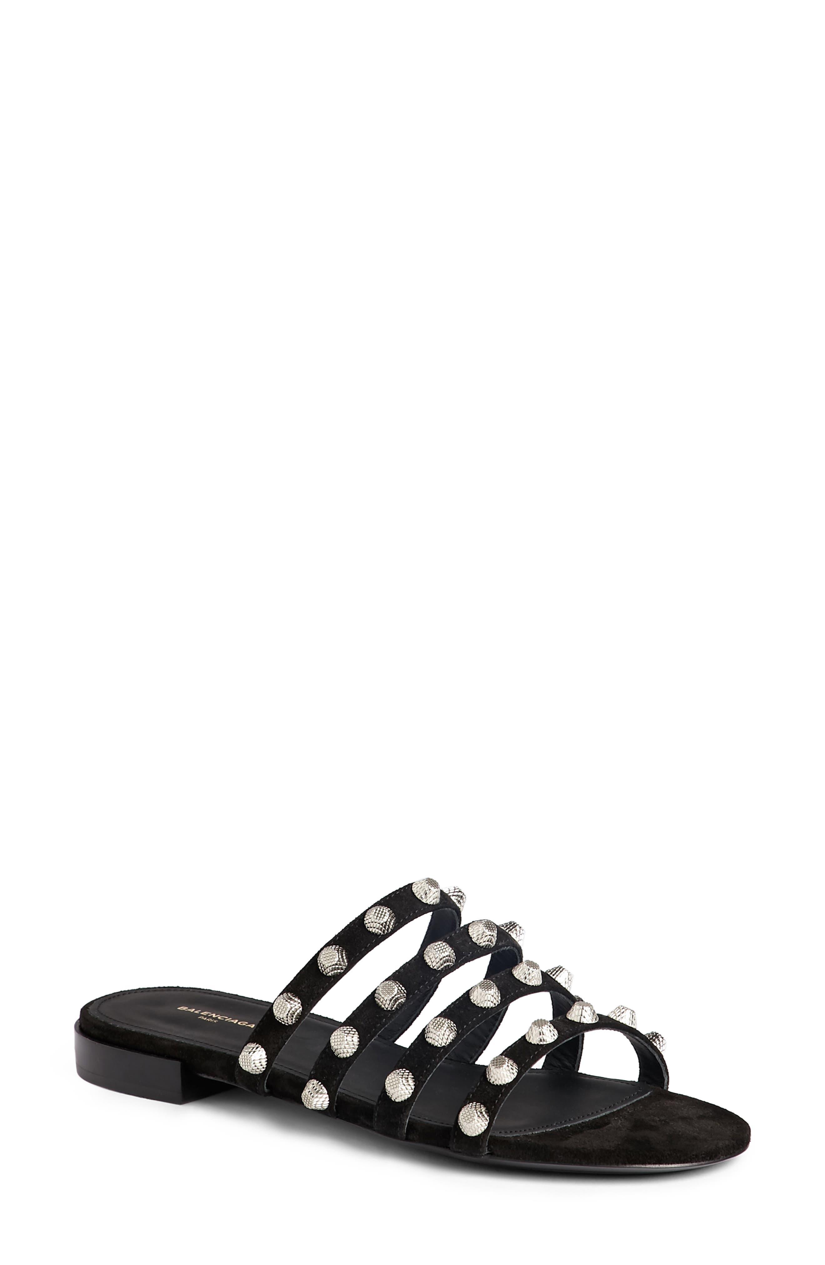 Balenciaga Studded Slide Sandal (Women)