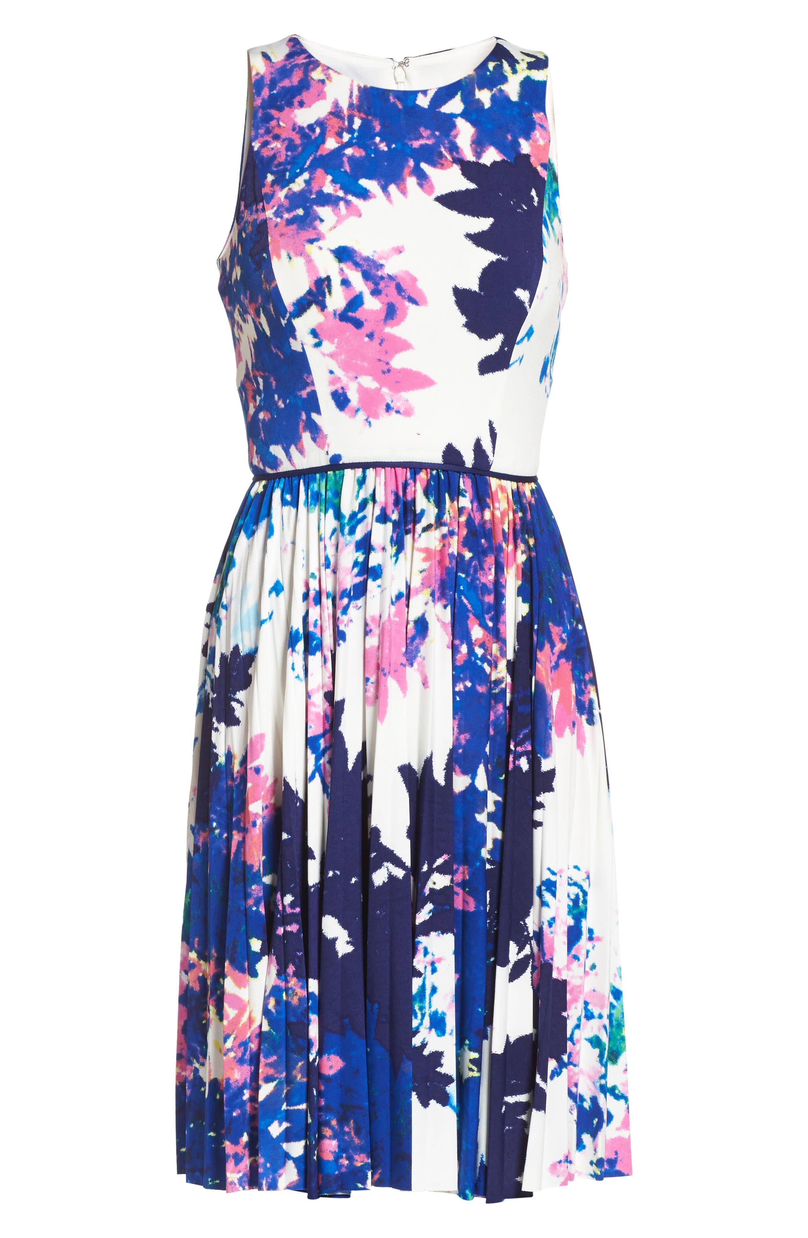 Alternate Image 6  - Maggy London Stretch Fit & Flare Dress (Regular & Petite)