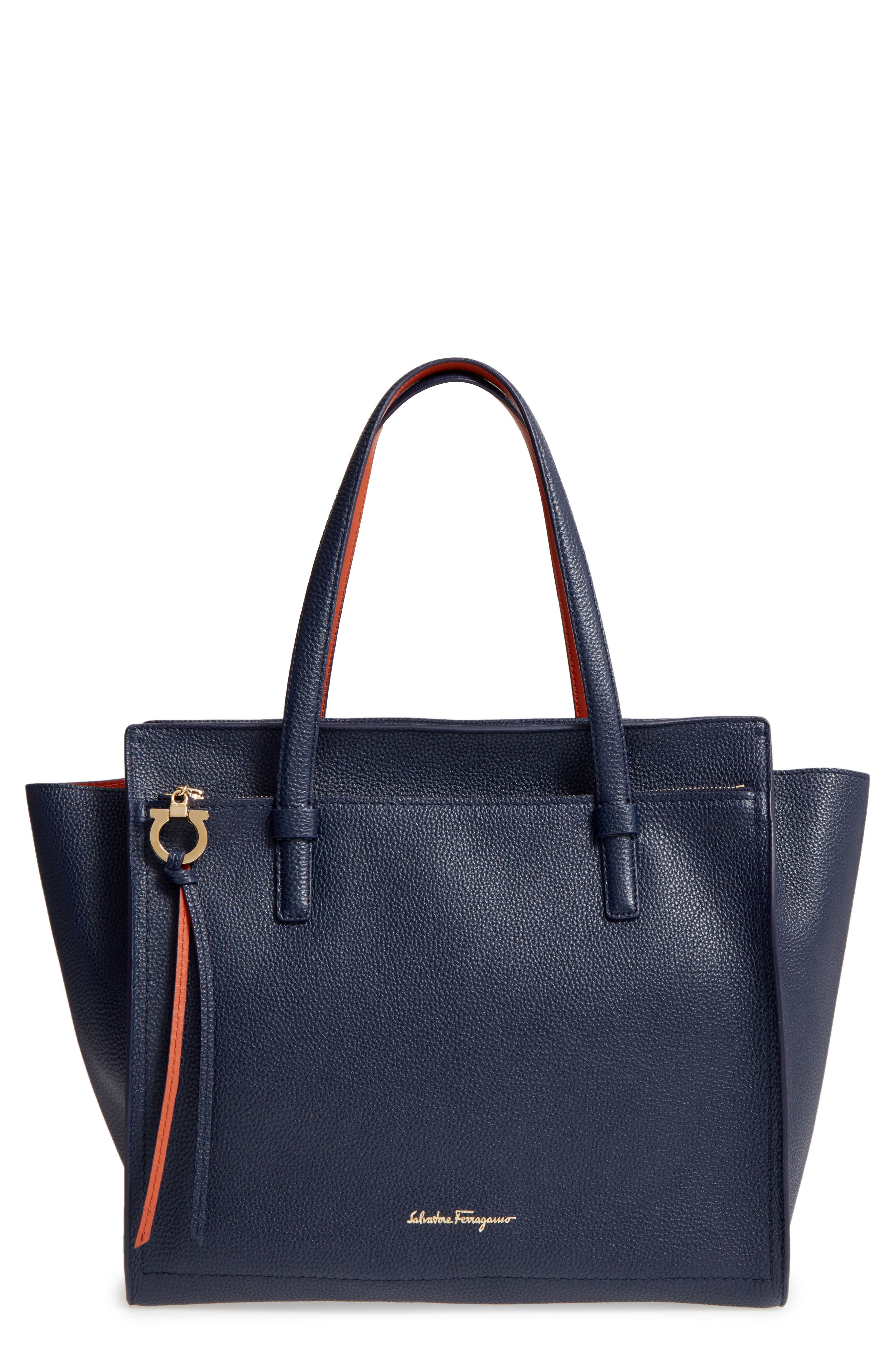 Alternate Image 1 Selected - Salvatore Ferragamo Large Pebbled Leather Tote