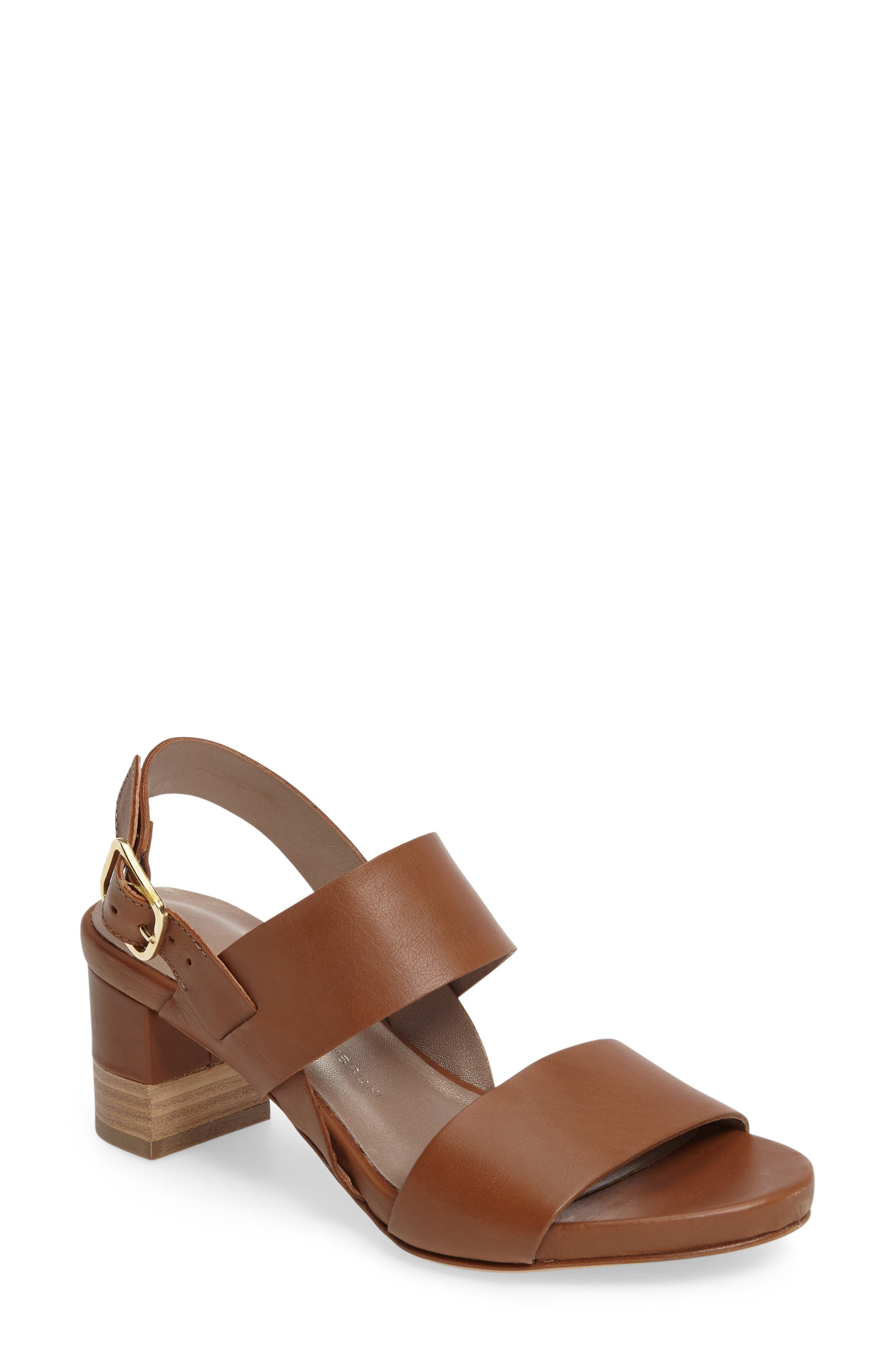 AGL Stacked Block Heel Sandal (Women)