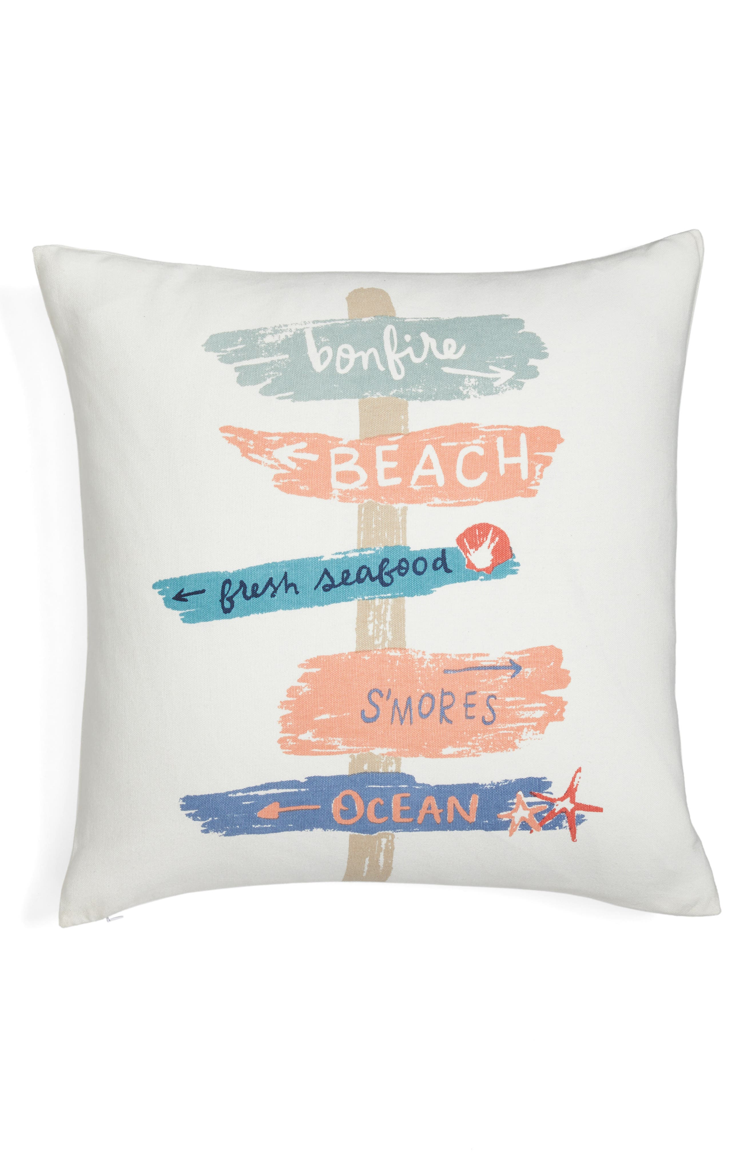 Nordstrom at Home Beach Signs Pillow