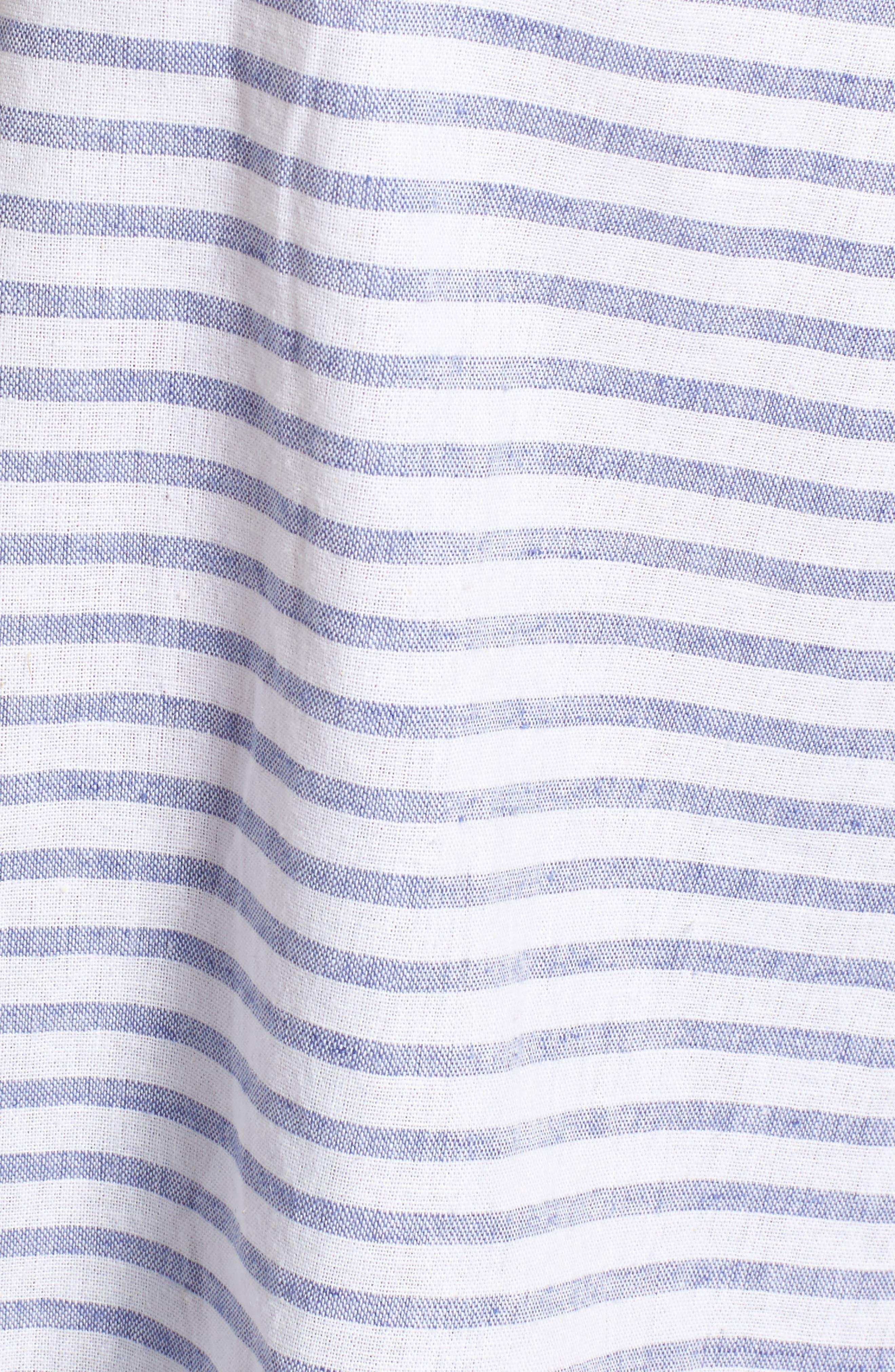 Alternate Image 5  - Soprano Stripe Cotton & Linen Off the Shoulder Top