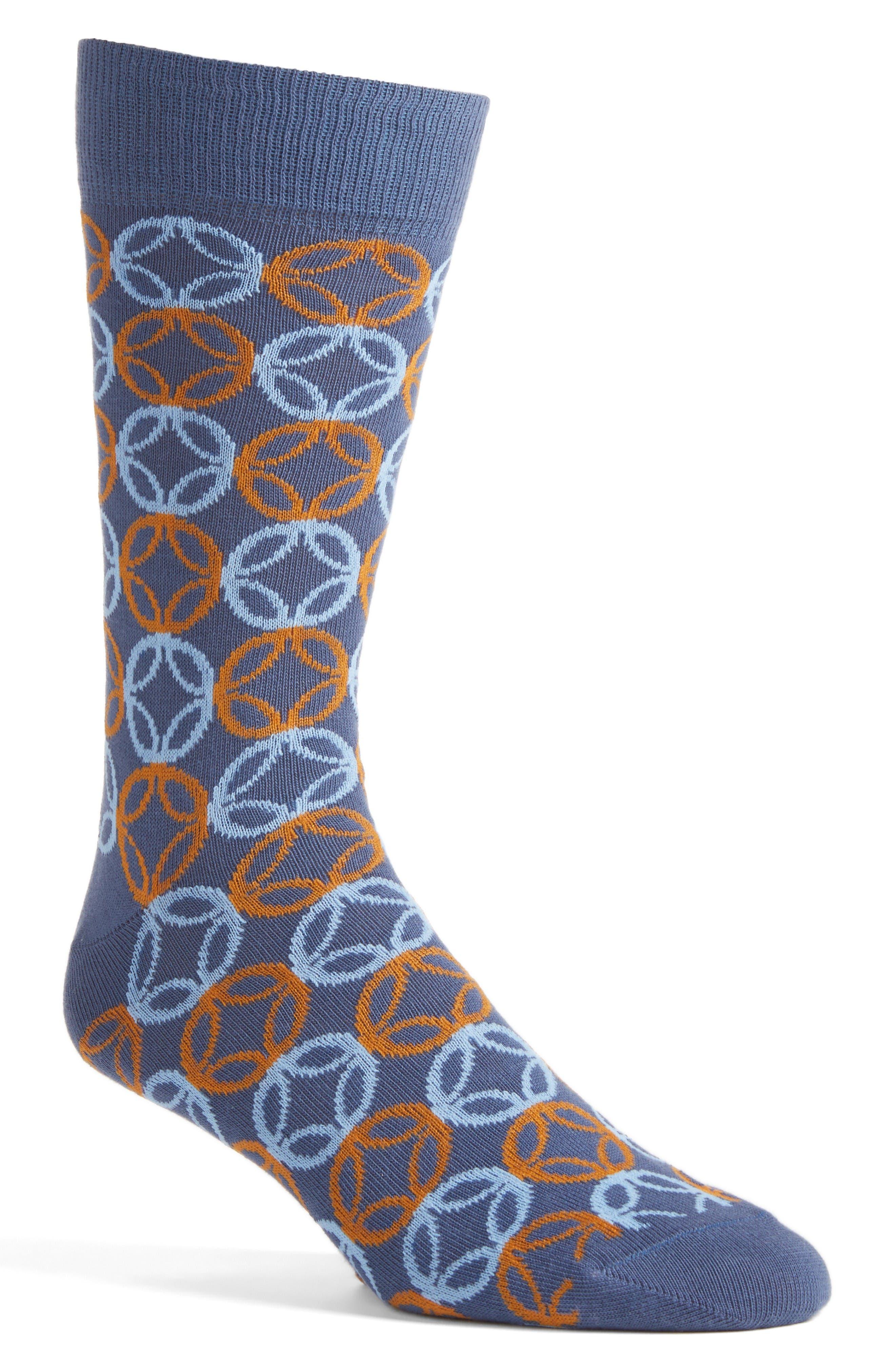 Lorenzo Uomo Geometric Socks