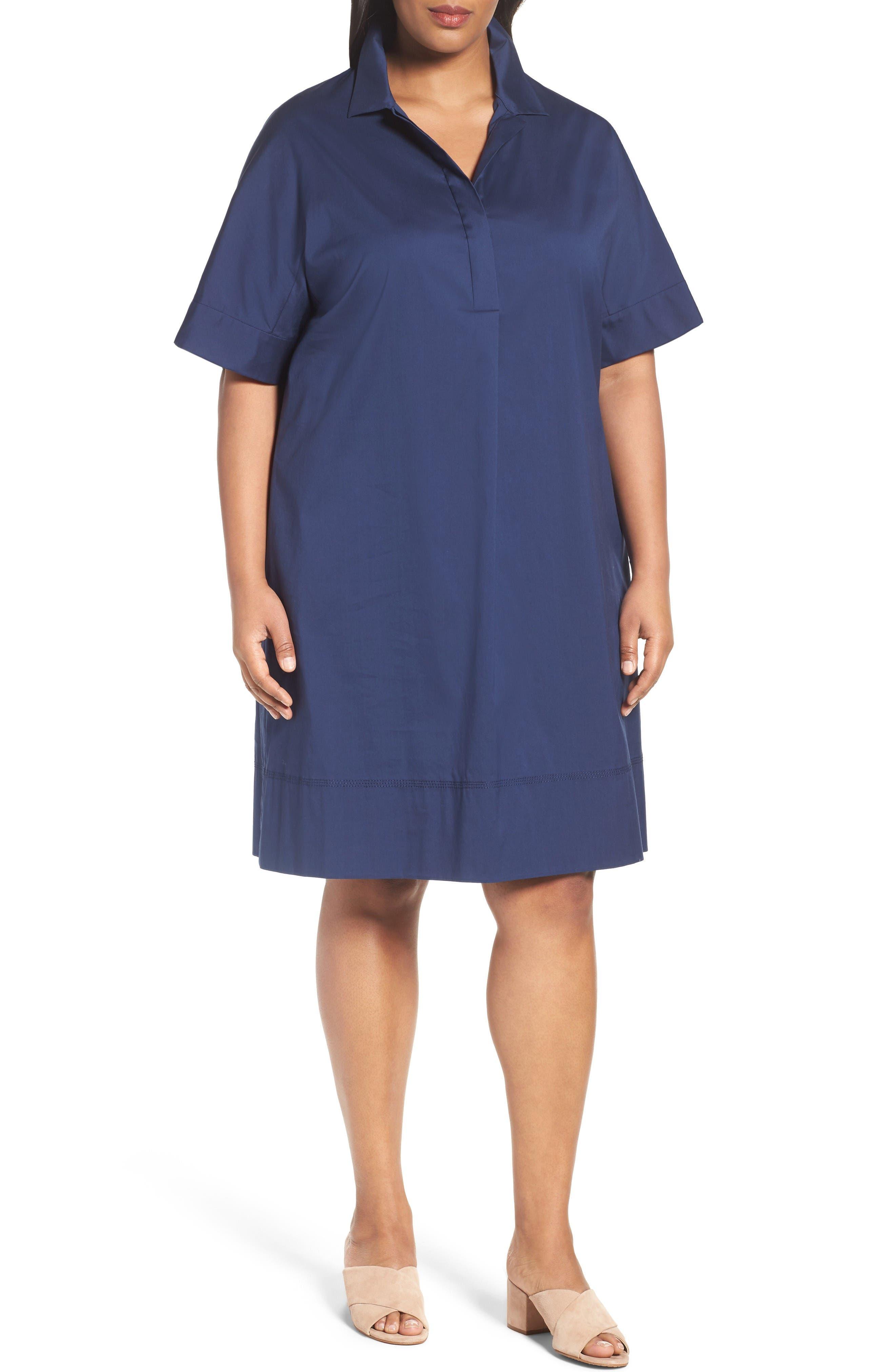 Lafayette 148 New York Zamira Cotton Blend Shirtdress (Plus Size)