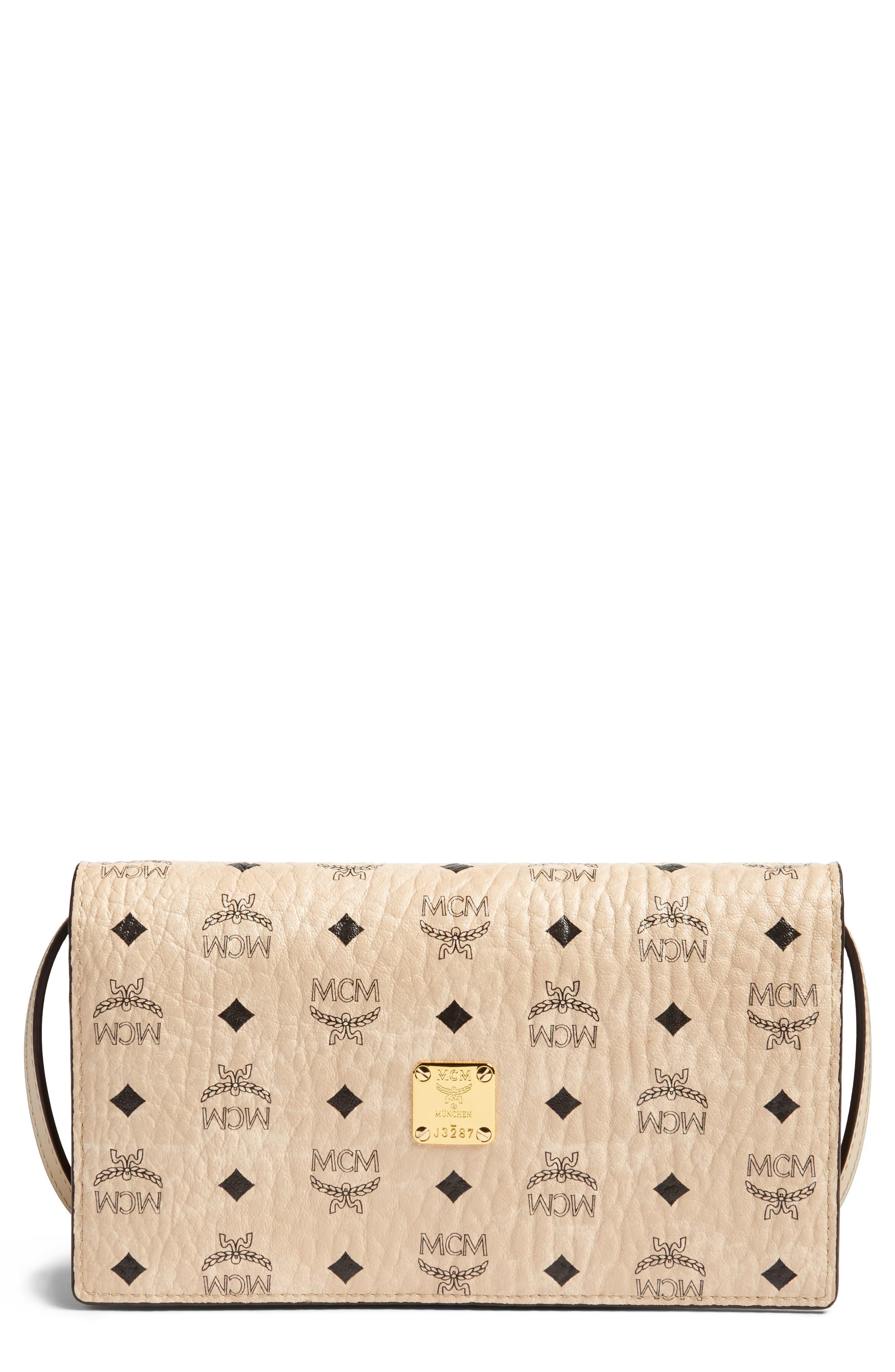 MCM Large Logo Wallet/Shoulder Bag