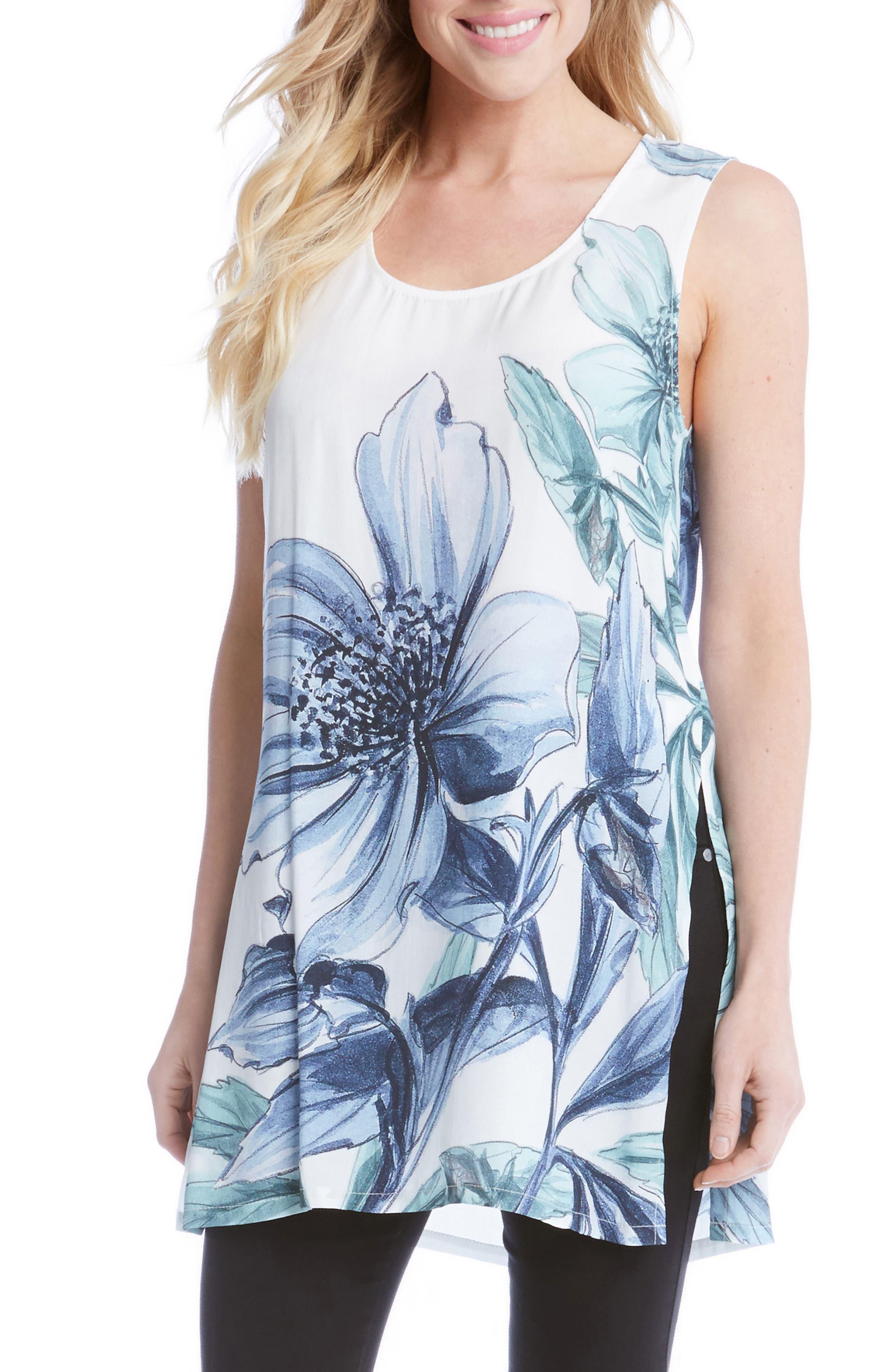 Karen Kane Side Slit Print Tunic