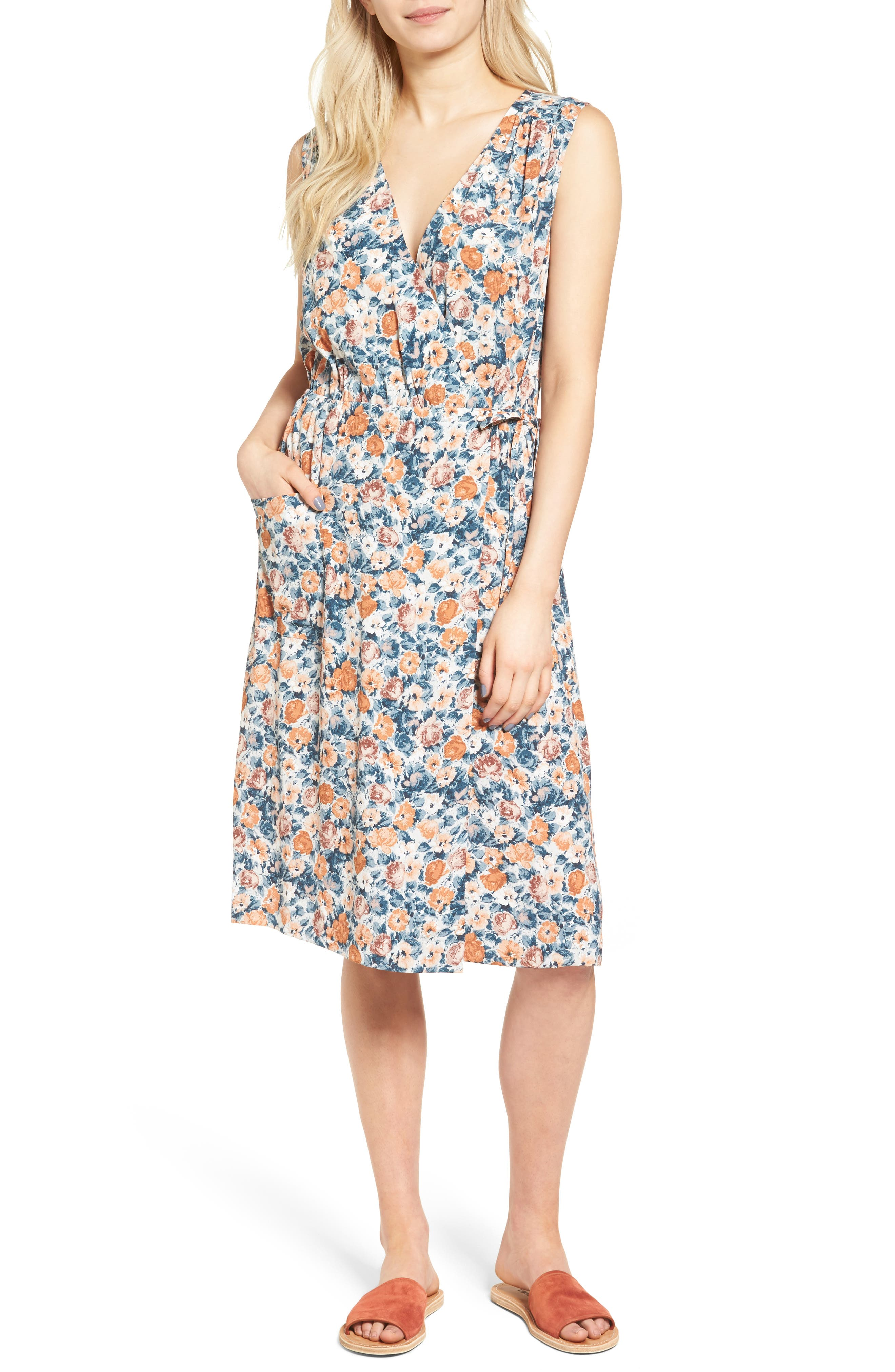 Current/Elliott The Sleeveless Wrap Front Dress
