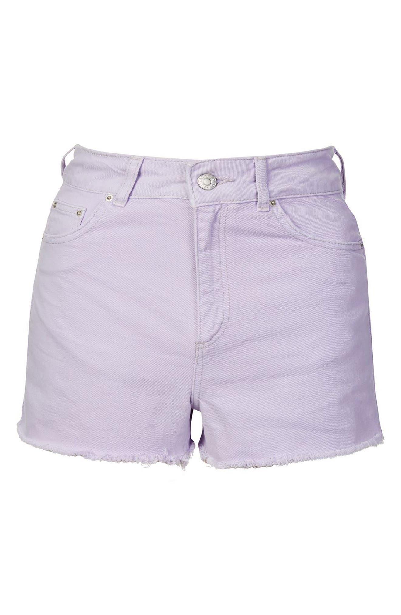 Alternate Image 4  - Topshop Cutoff Denim Shorts