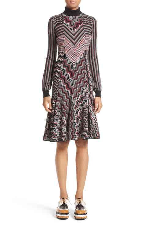 Missoni Patchwork Wool Blend Knit Dress