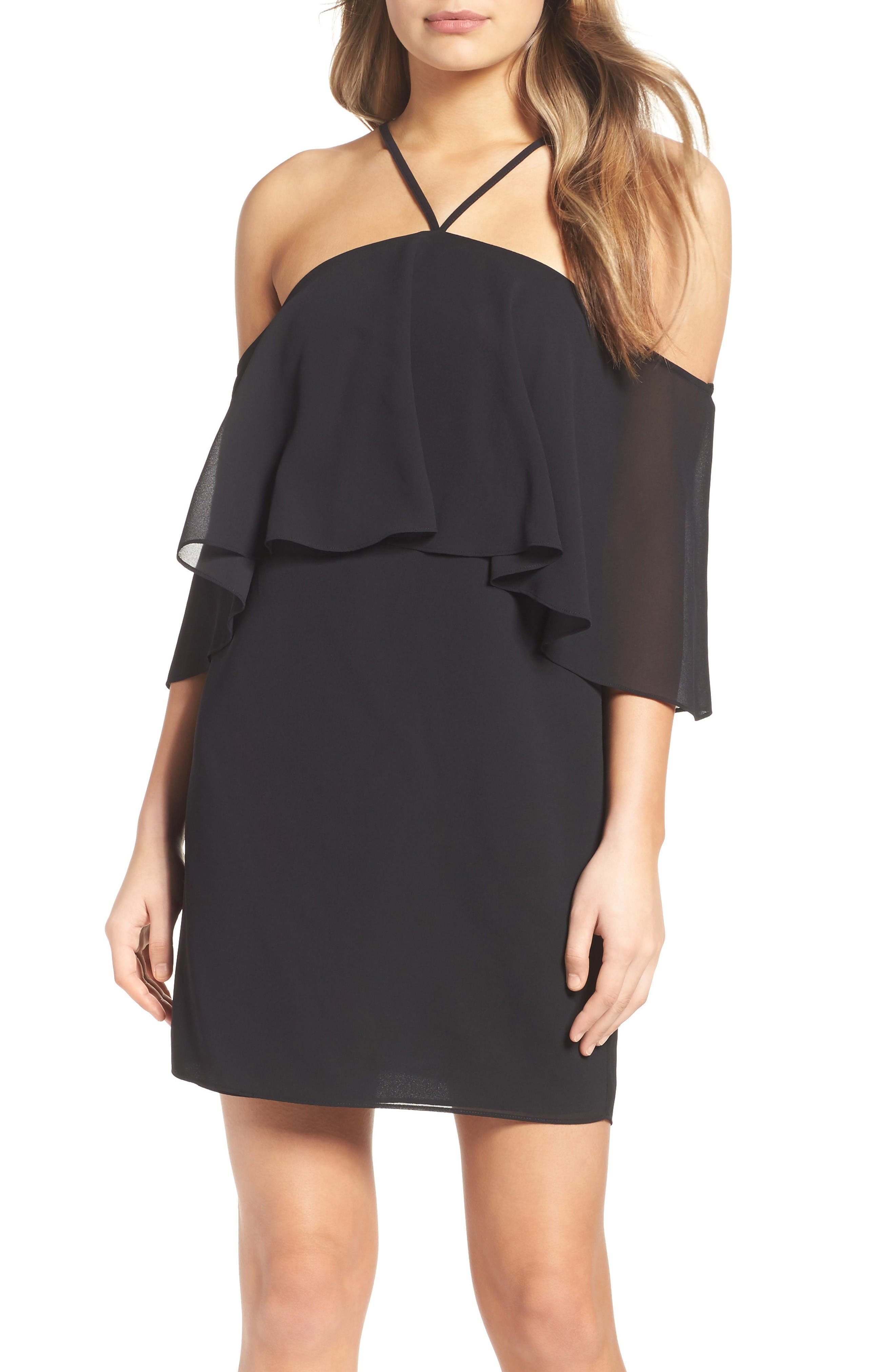 Ali & Jay Bougainville A Bliss Off the Shoulder Dress