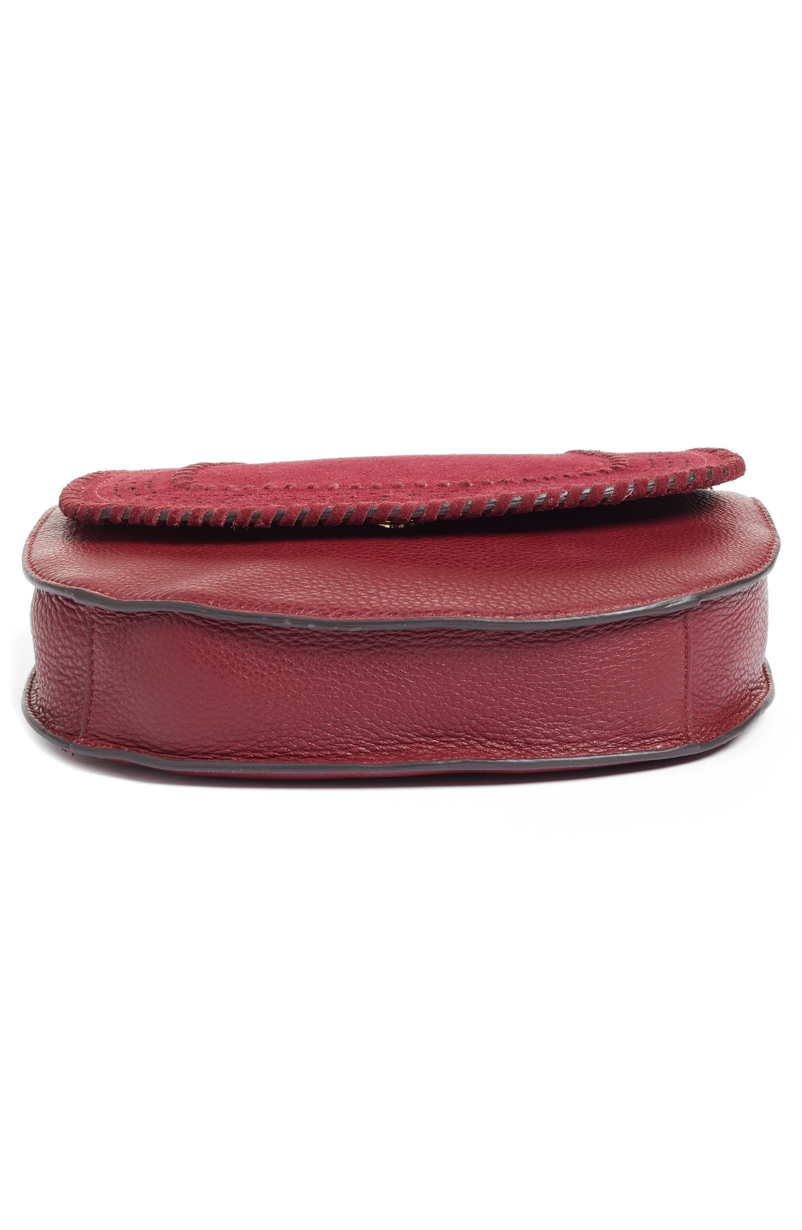 Alternate Image 6  - Vince Camuto Kirie Suede & Leather Crossbody Saddle Bag (Nordstrom Exclusive)
