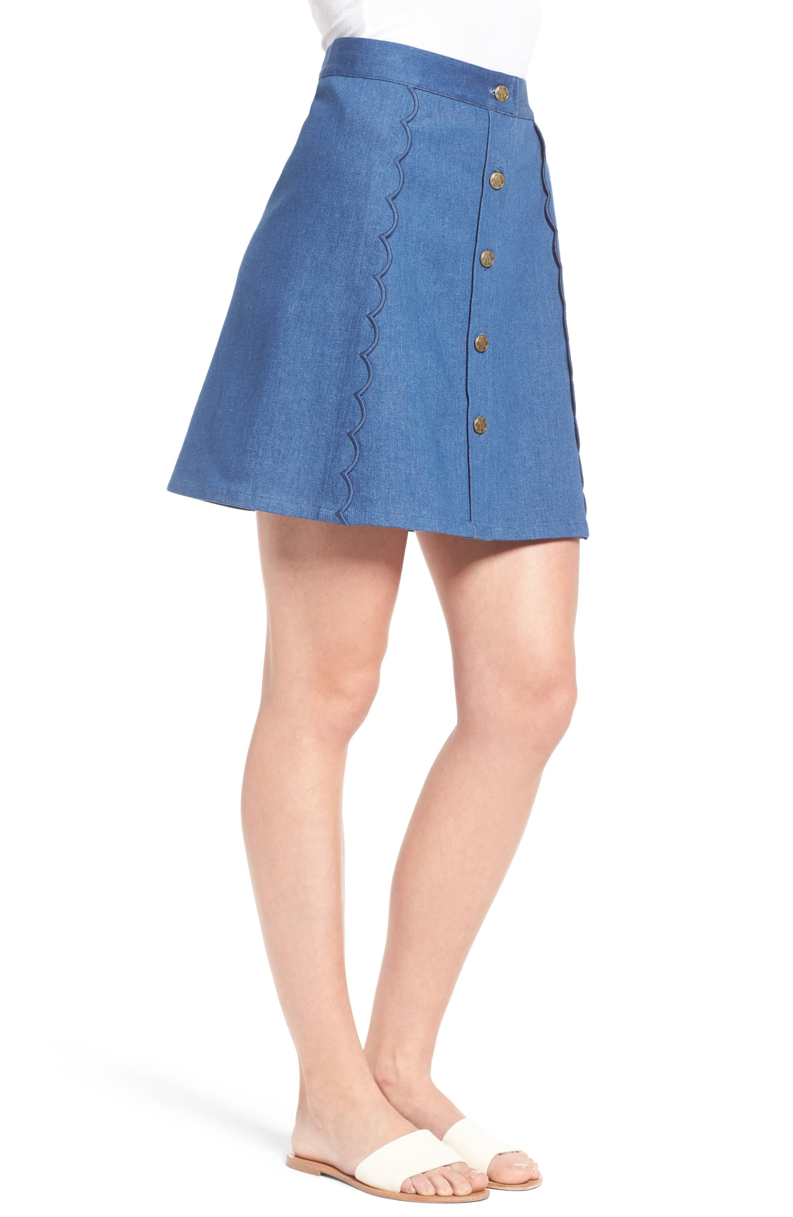 Alternate Image 3  - Draper James Stretch Denim Miniskirt (Nordstrom Exclusive)