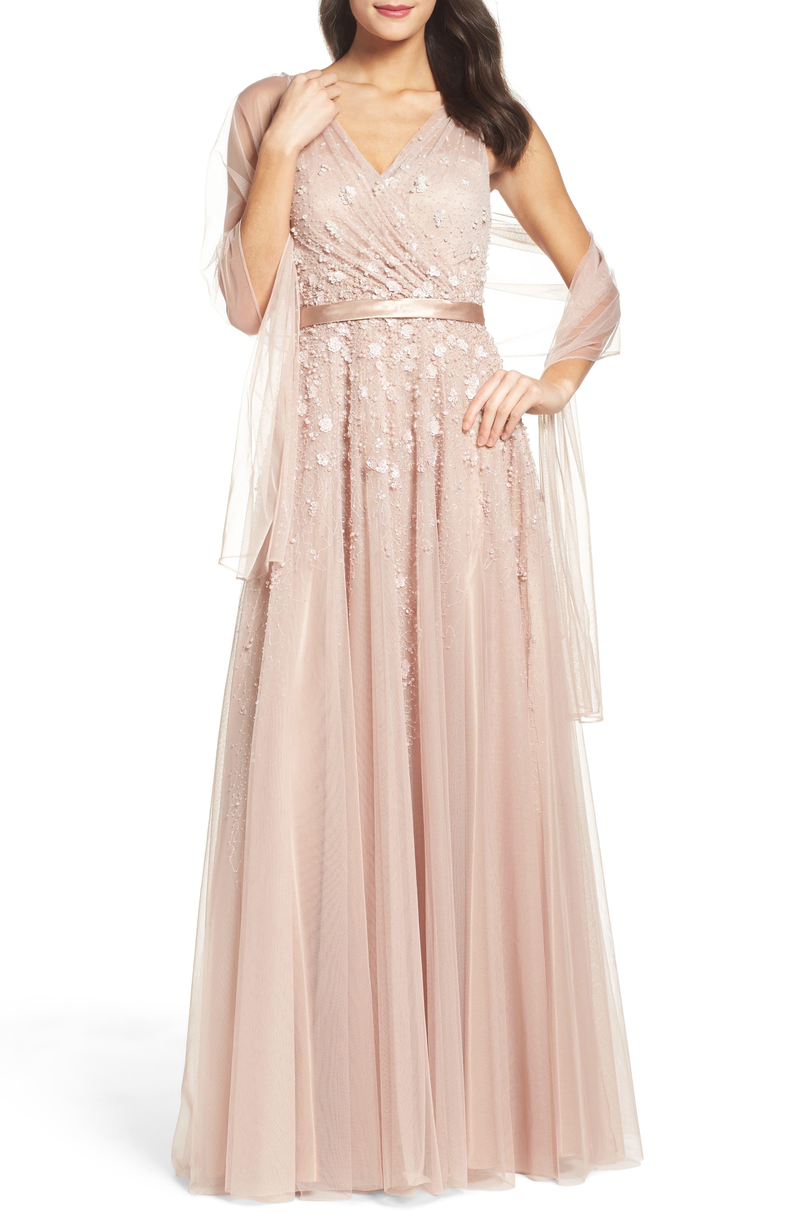 Alternate Image 1 Selected - Mac Duggal Embellished Mesh Gown