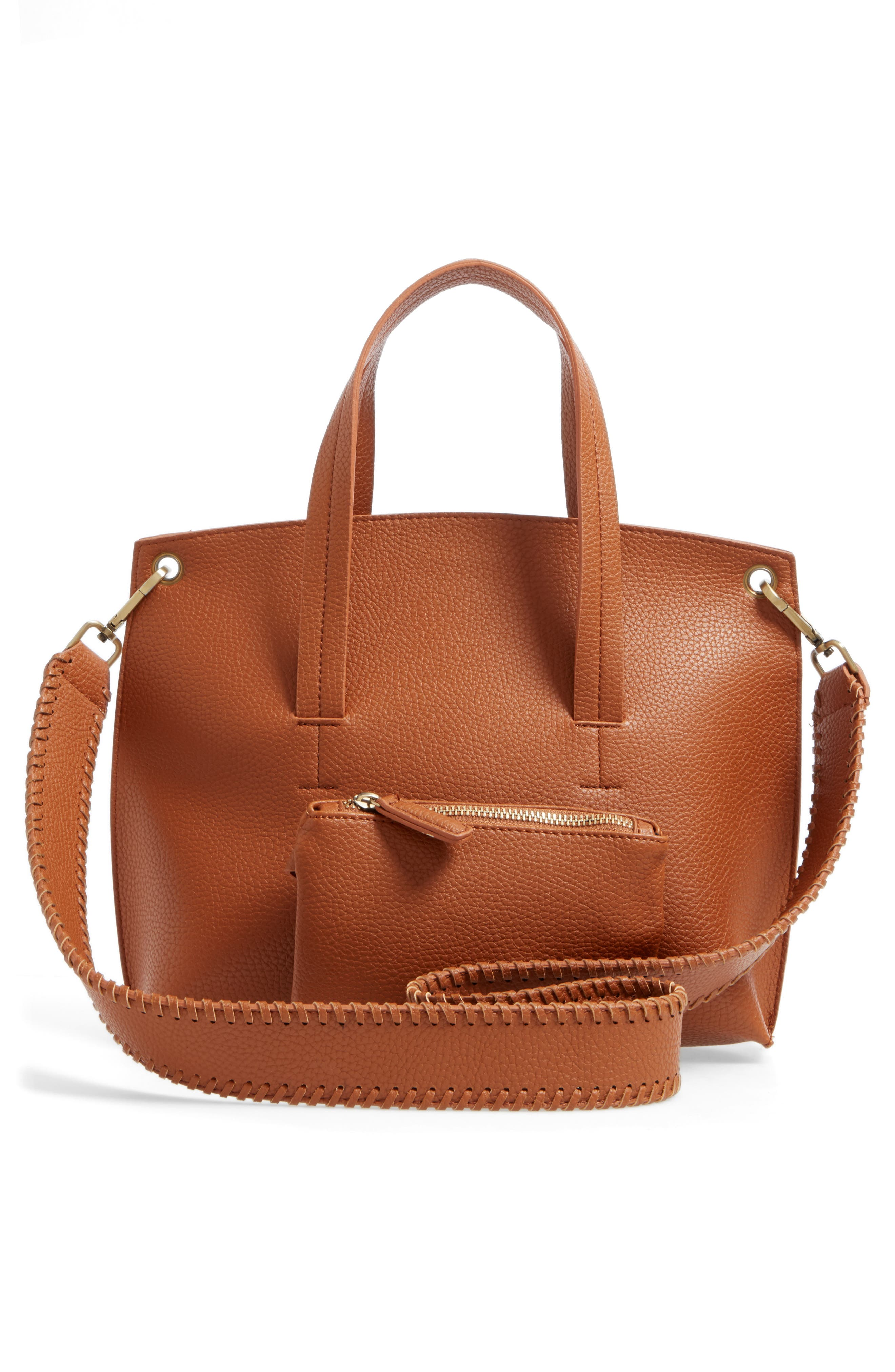 Alternate Image 3  - Street Level Faux Leather Crossbody Bag