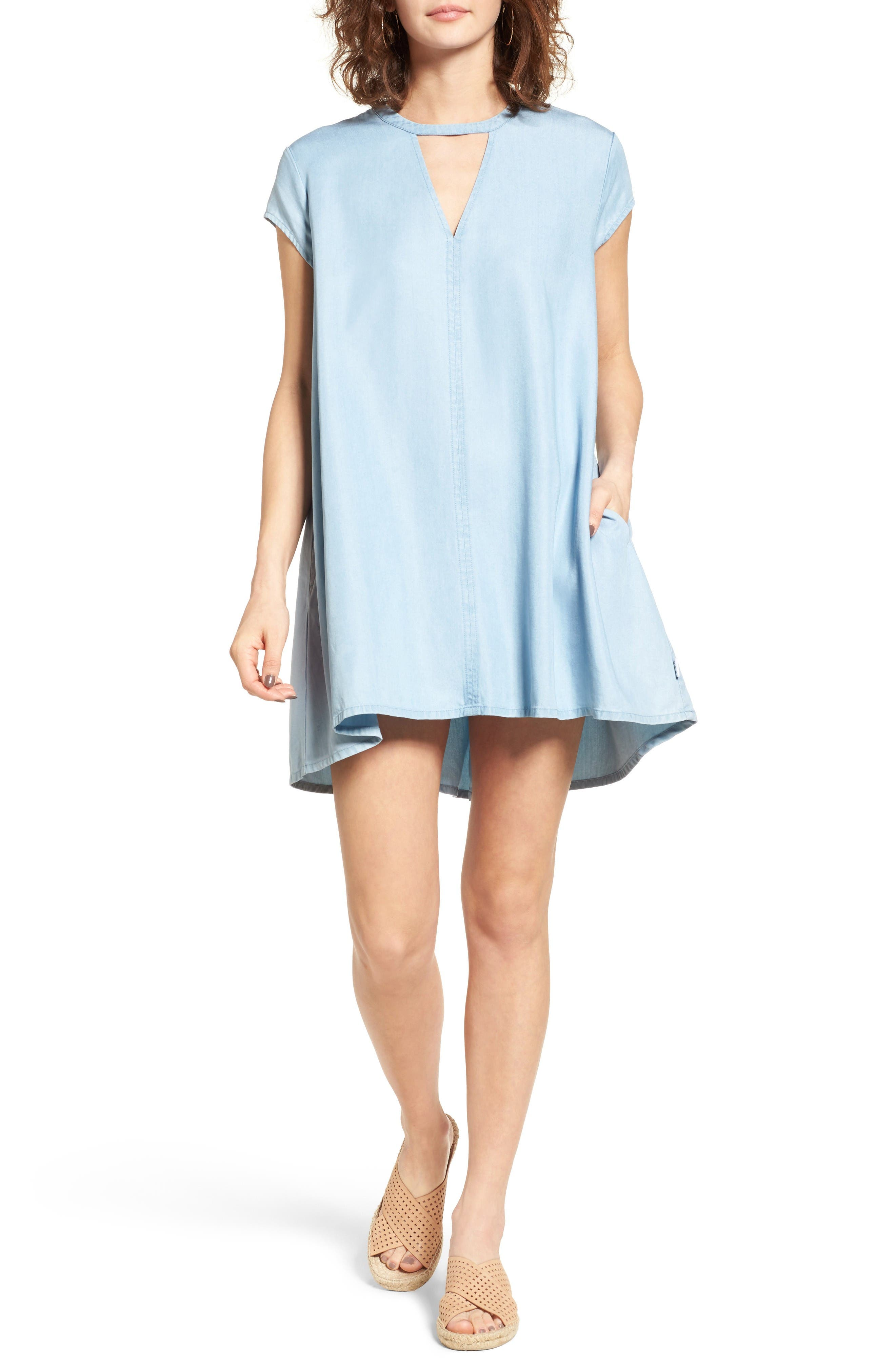 RVCA Upbeat Chambray Swing Dress
