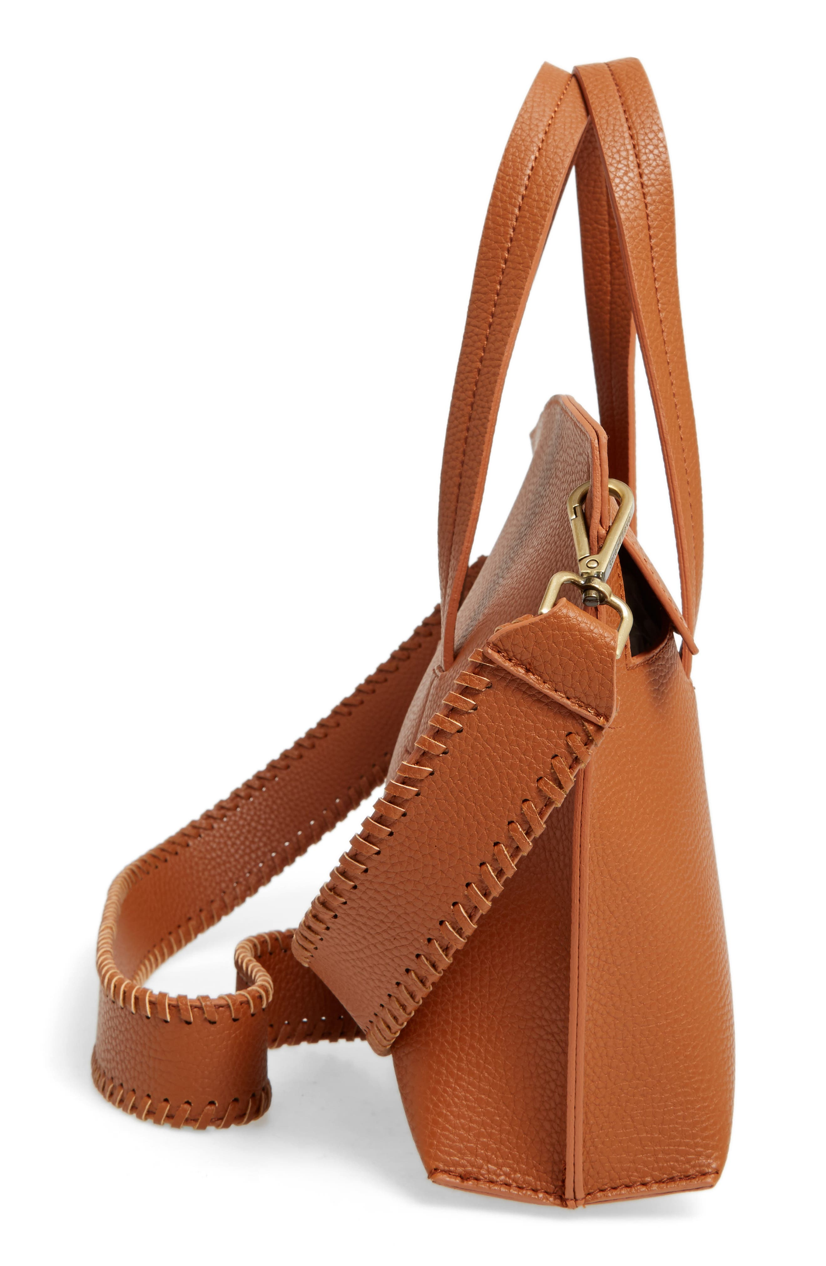 Alternate Image 5  - Street Level Faux Leather Crossbody Bag