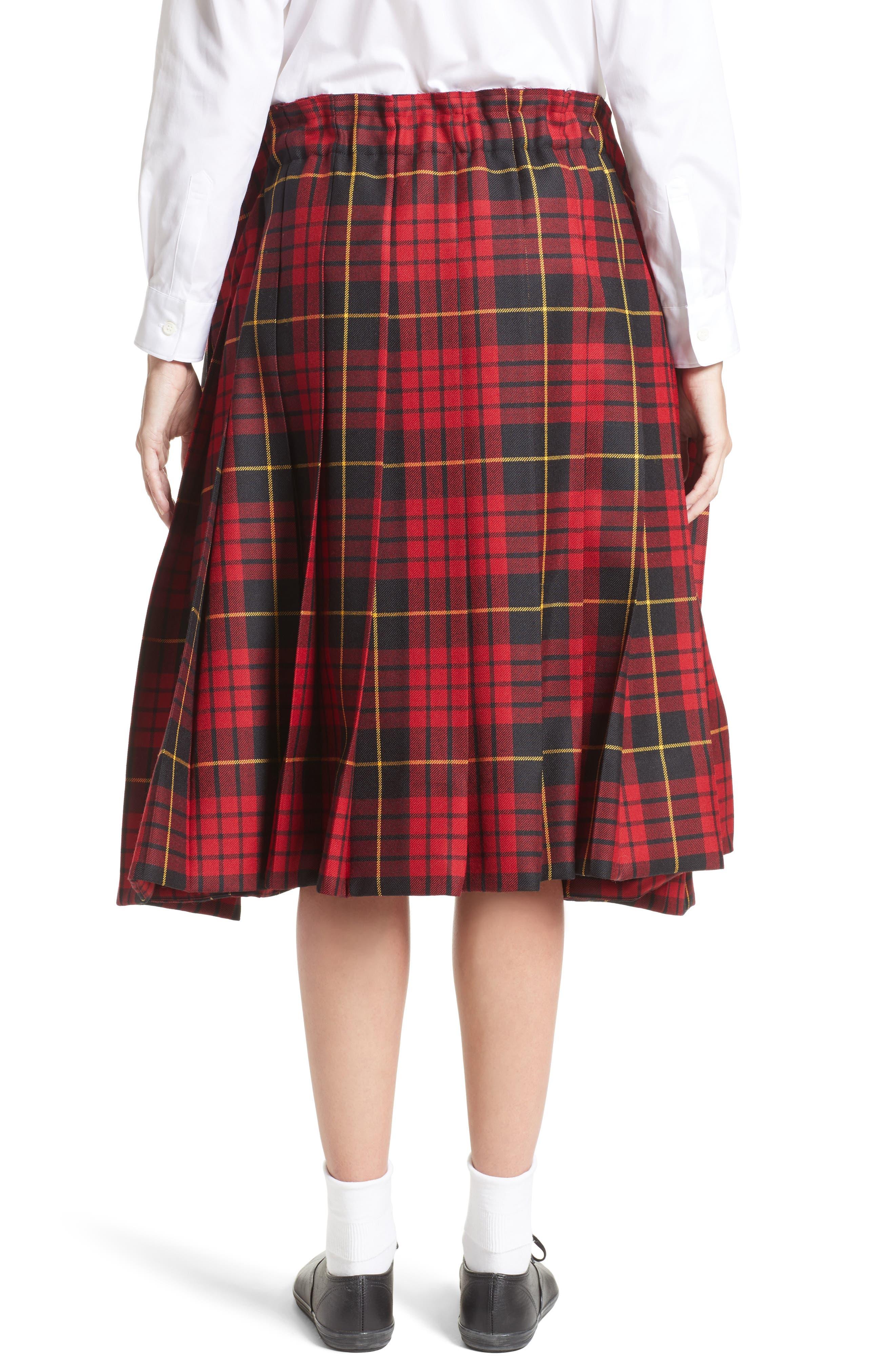 Alternate Image 2  - Comme des Garçons Tartan Check Wool Skirt