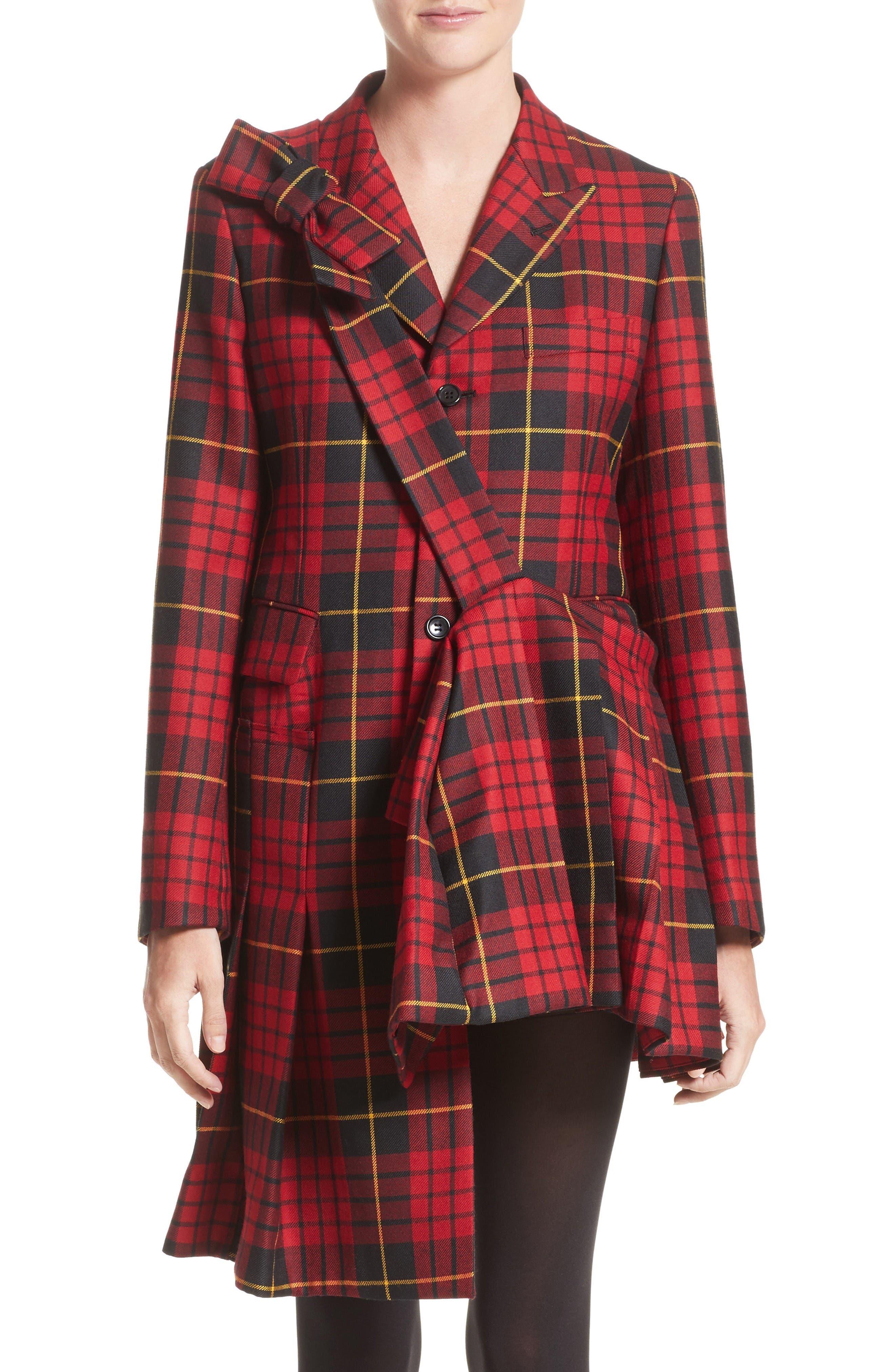 Alternate Image 1 Selected - Comme des Garçons Tartan Plaid Wool Jacket