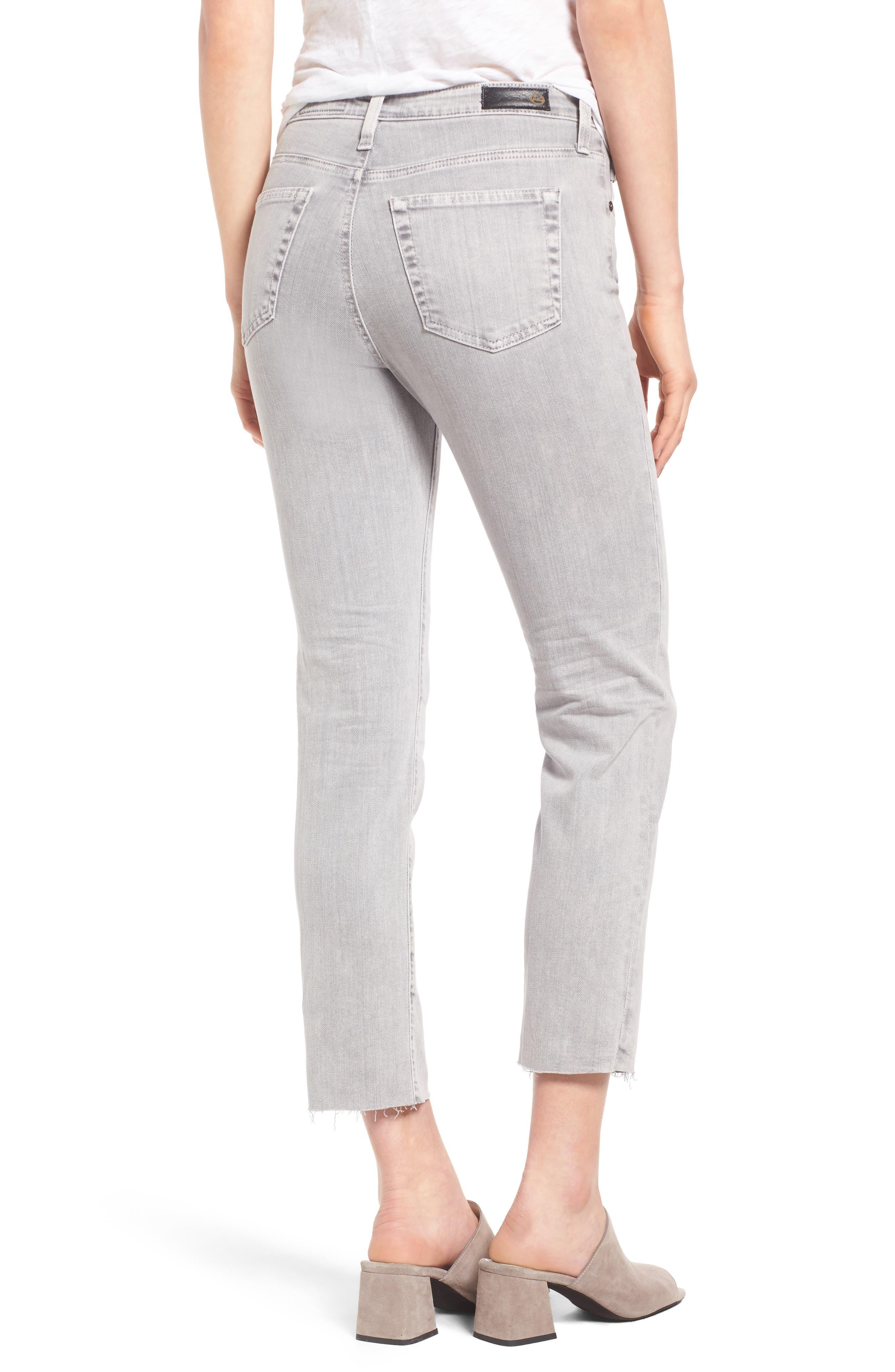 Alternate Image 2  - AG The Isabelle High Waist Crop Straight Leg Jeans