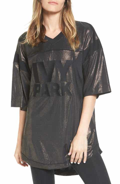IVY PARK® Lam Embroidered Logo Tee